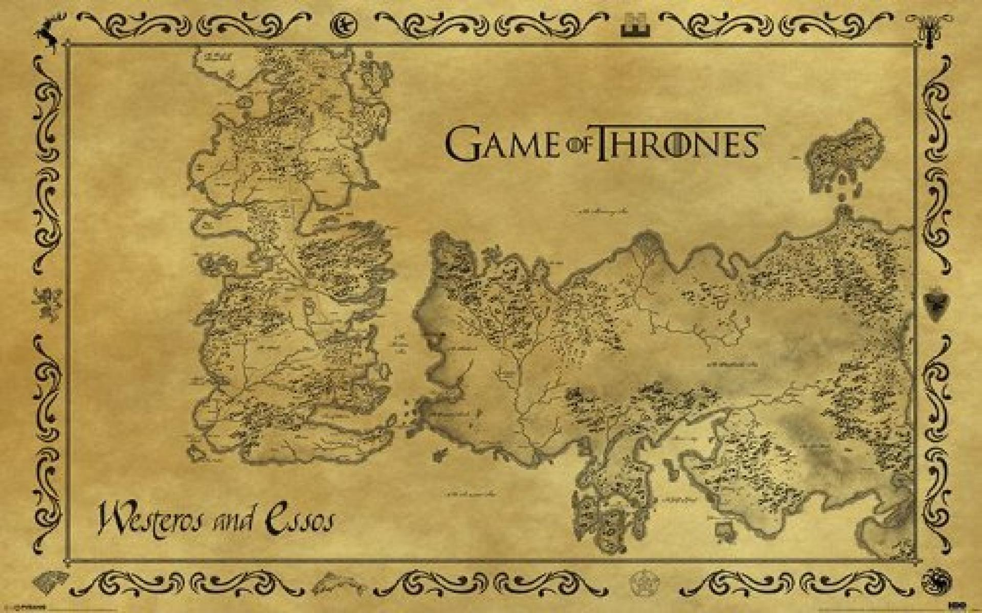 Game Of Thrones Maps Wallpapers Wallpaper Cave