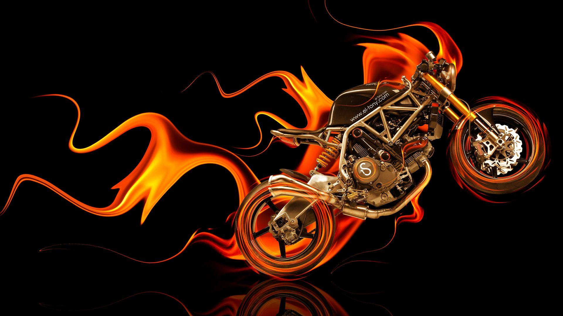 NCR M4 Side Super Fire Abstract Bike 2014