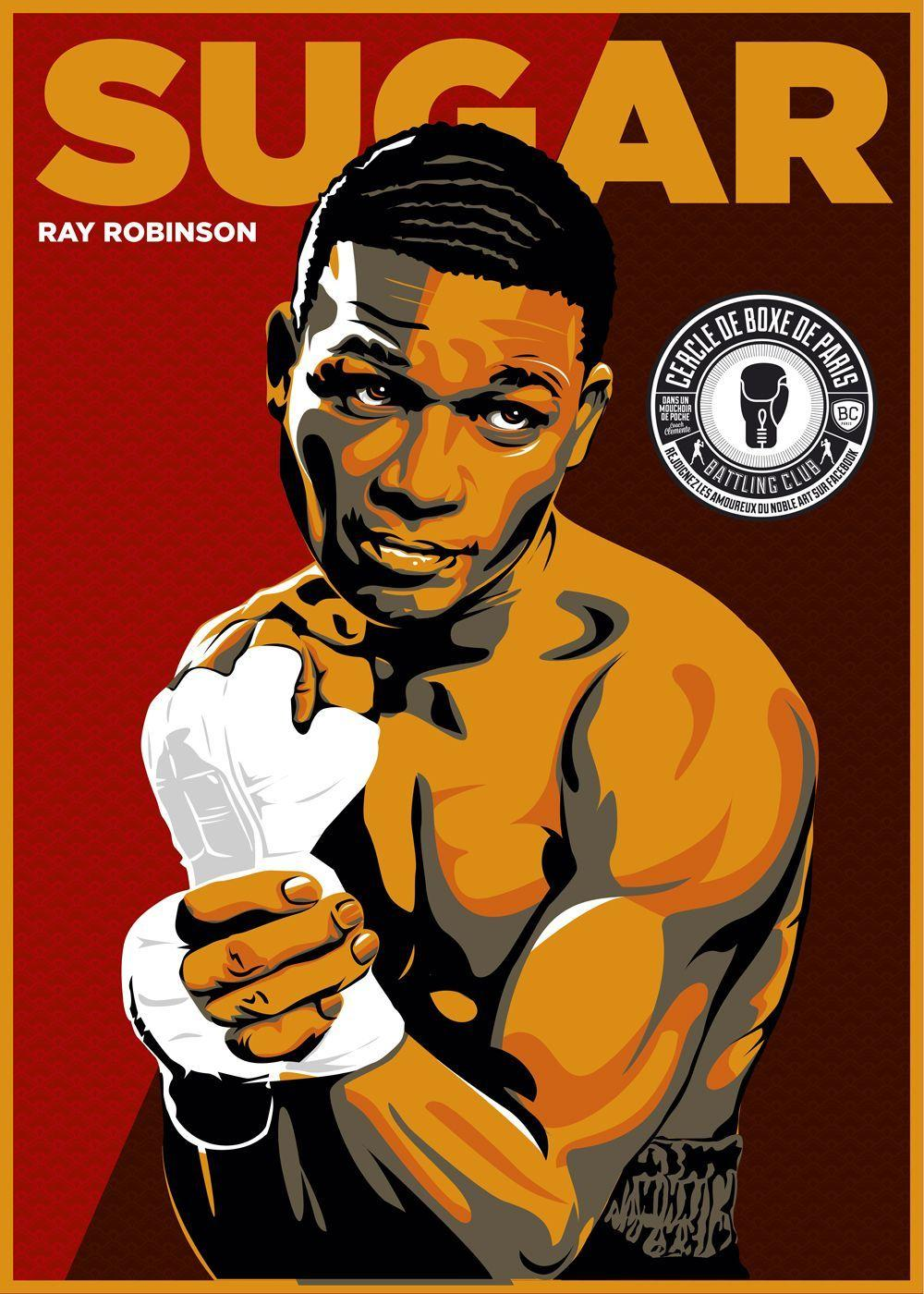 Sugar Ray Robinson Boxing By Christian Zivojinovic | Boxing ...