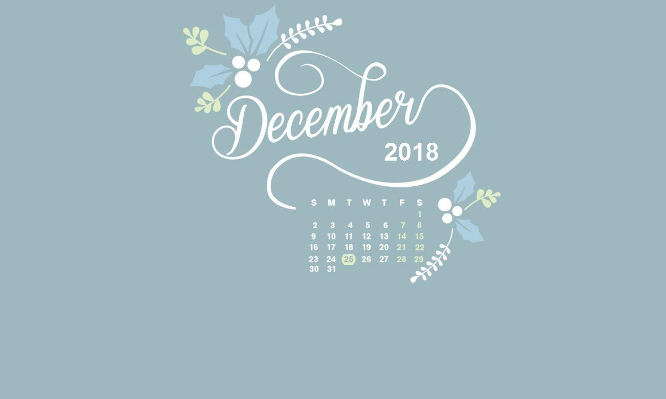 December 2018 Calendar Wallpapers Wallpaper Cave