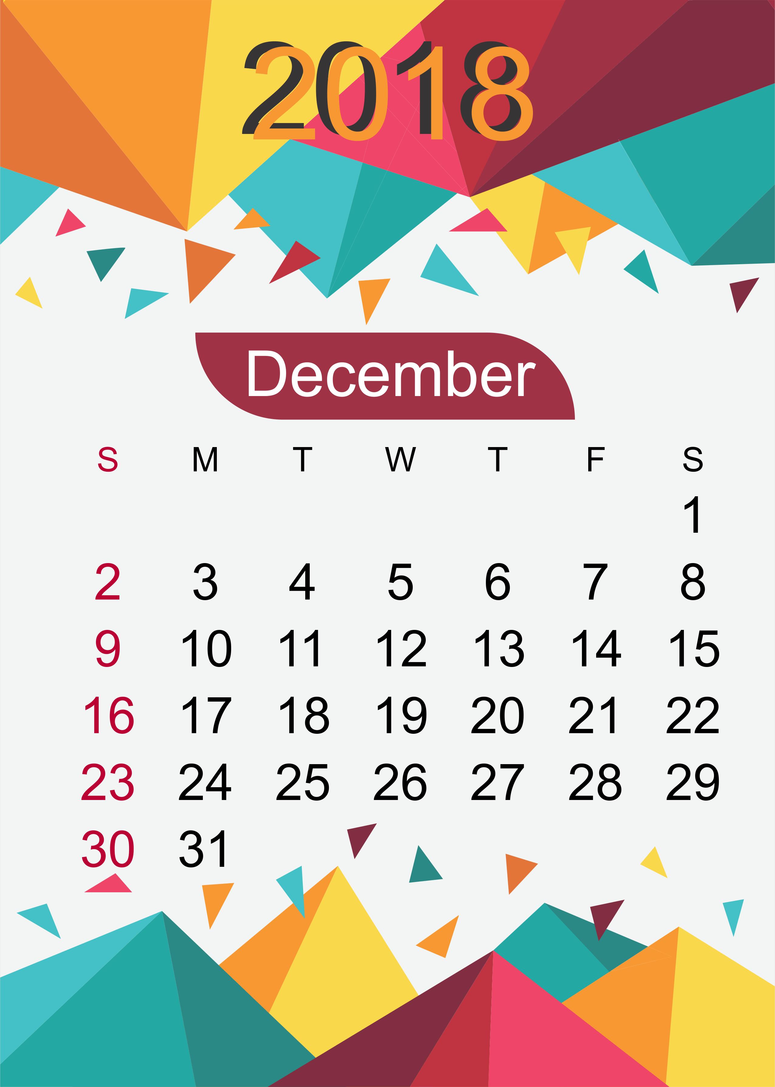December 2018 Calendar Wallpapers Wallpaper Cave