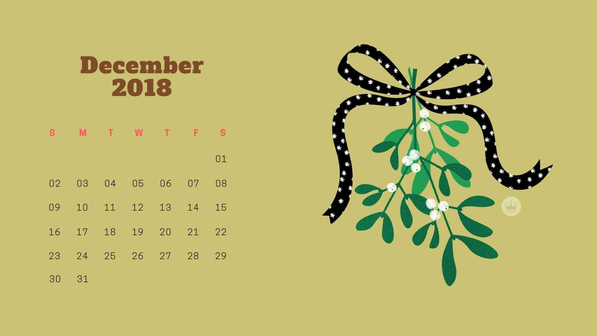 Desktop Calendar Wallpaper December 2019 December 2018 Calendar Wallpapers   Wallpaper Cave