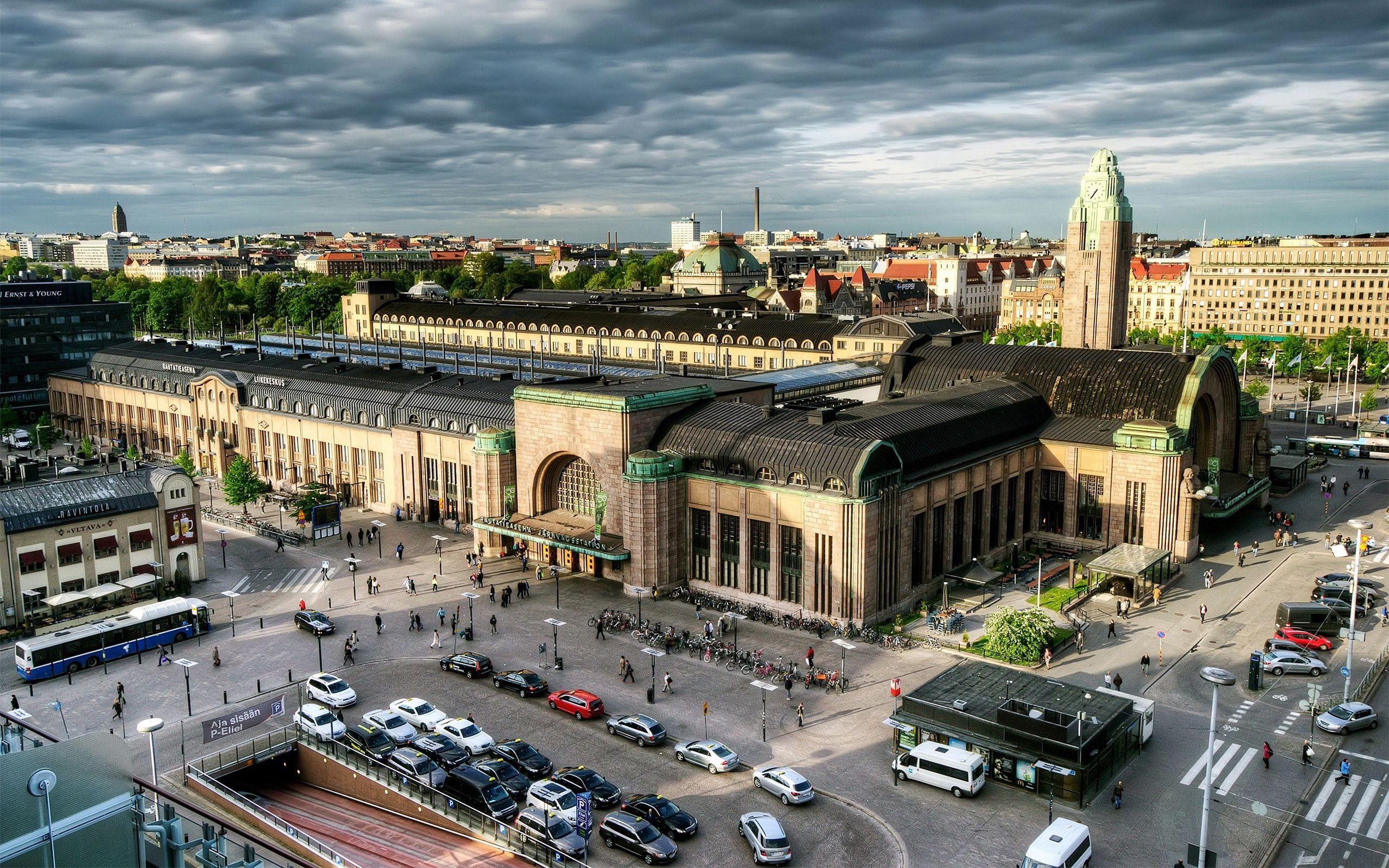 Download wallpapers 2560x1600 helsinki, finland, capital, top view