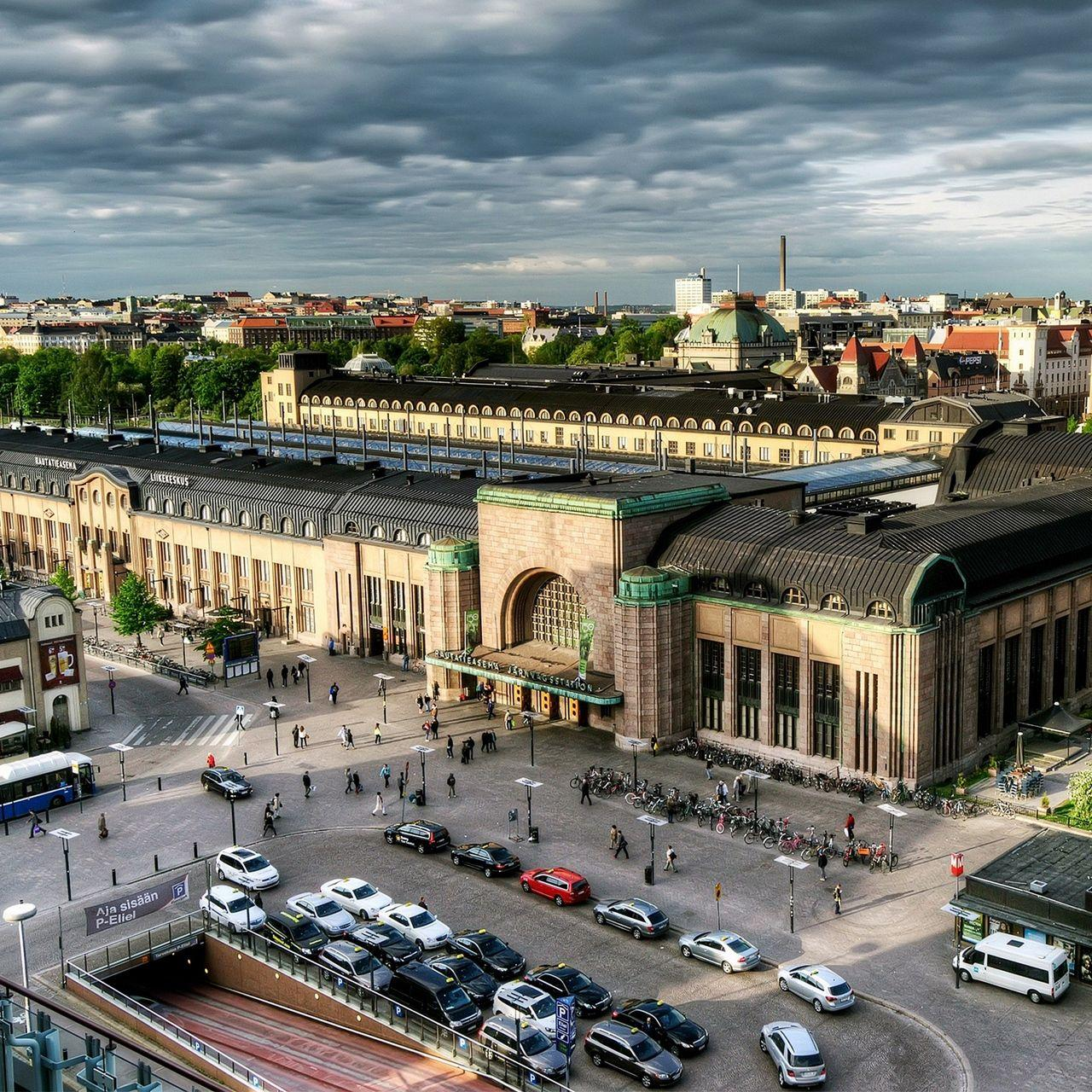 Download wallpapers 1280x1280 helsinki, finland, capital, top view