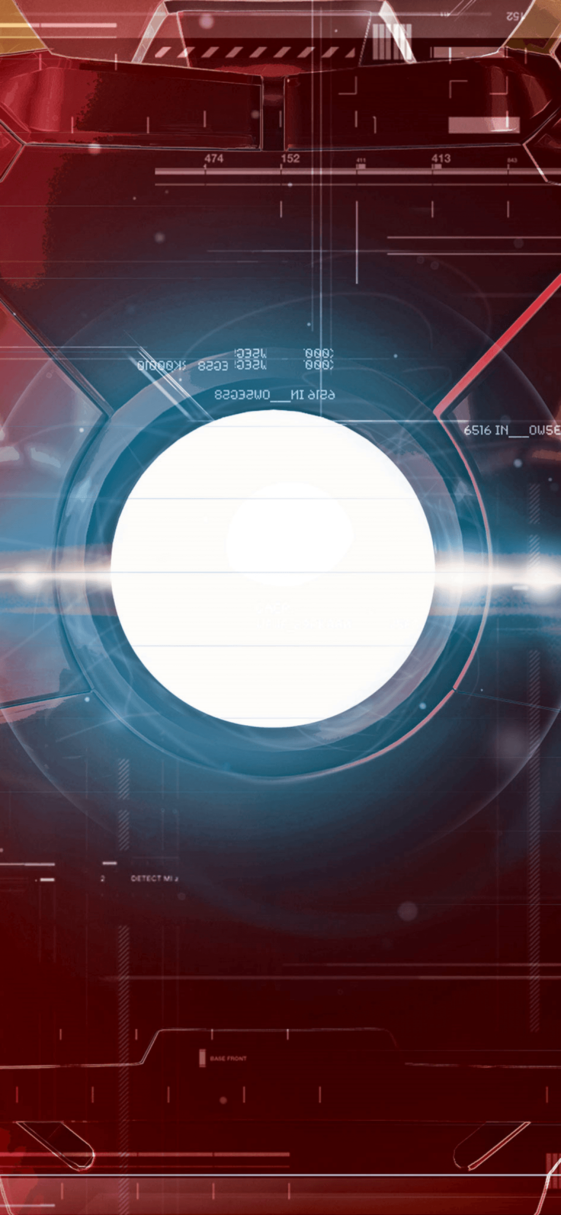 Download 1125x2436 Iron Man Interface, Sci-fi, Marvel Wallpapers for .