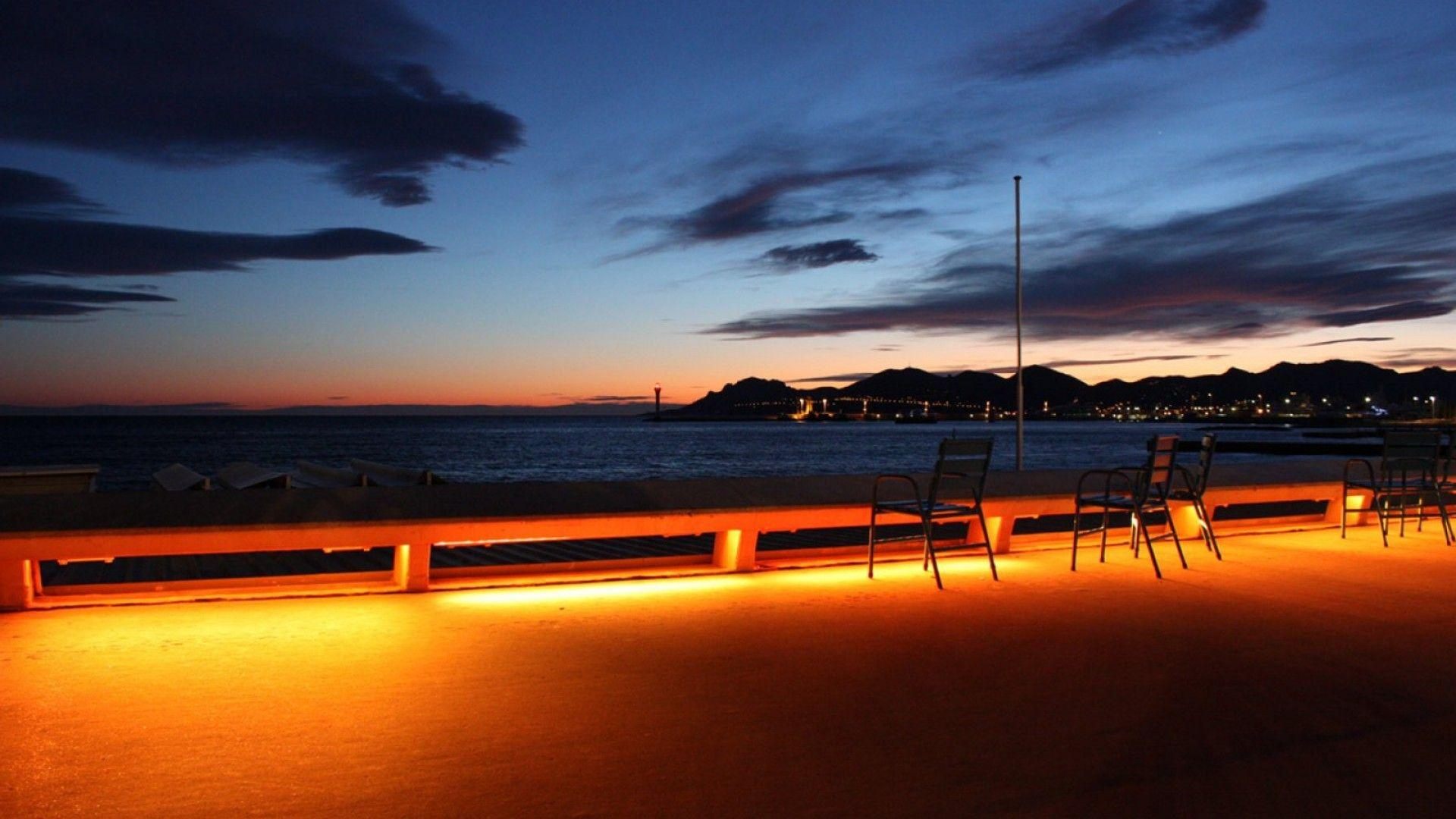 Night in Cannes, France wallpapers and image