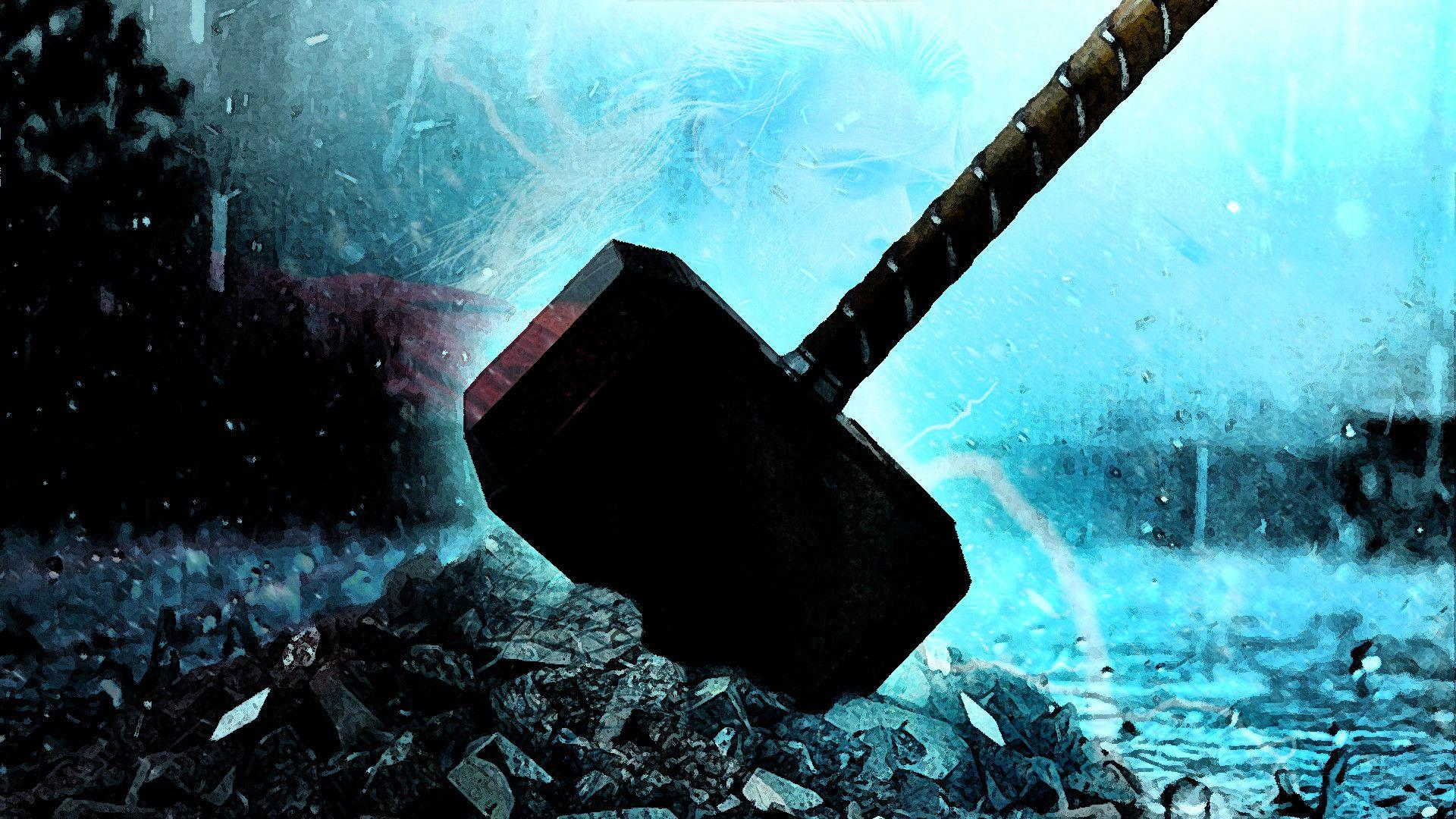 Thor With Hammer Wallpapers Wallpaper Cave