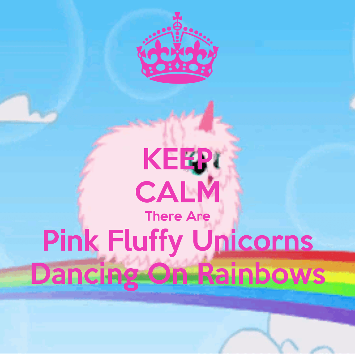Pink Fluffy Unicorns Dancing On Rainbows Wallpapers