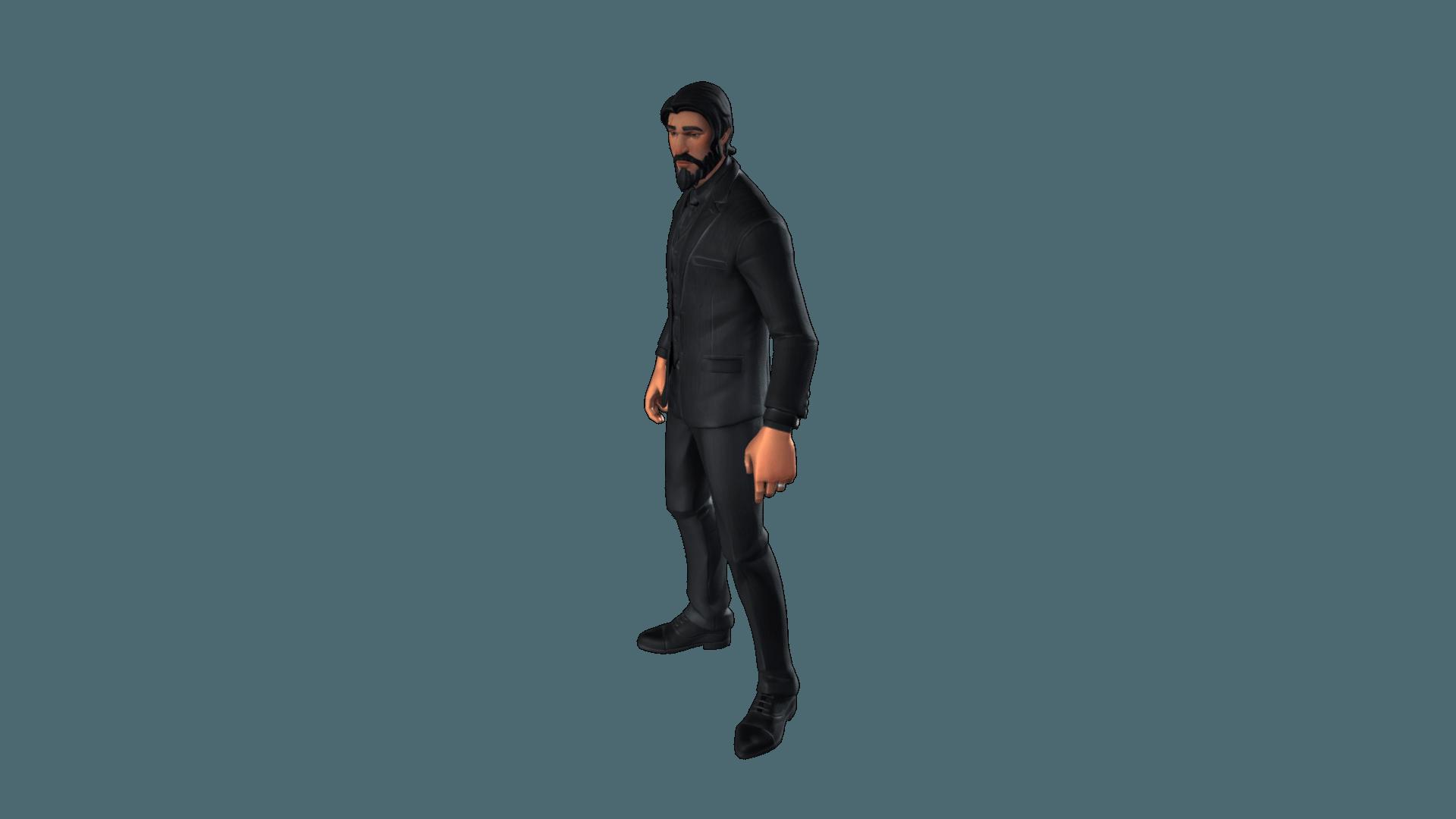 Fire John Wick Fortnite Skin | Fortnite Free 3d Models