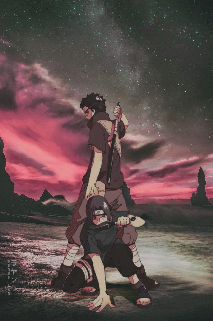 Itachi And Shisui Aesthetic Wallpapers Wallpaper Cave