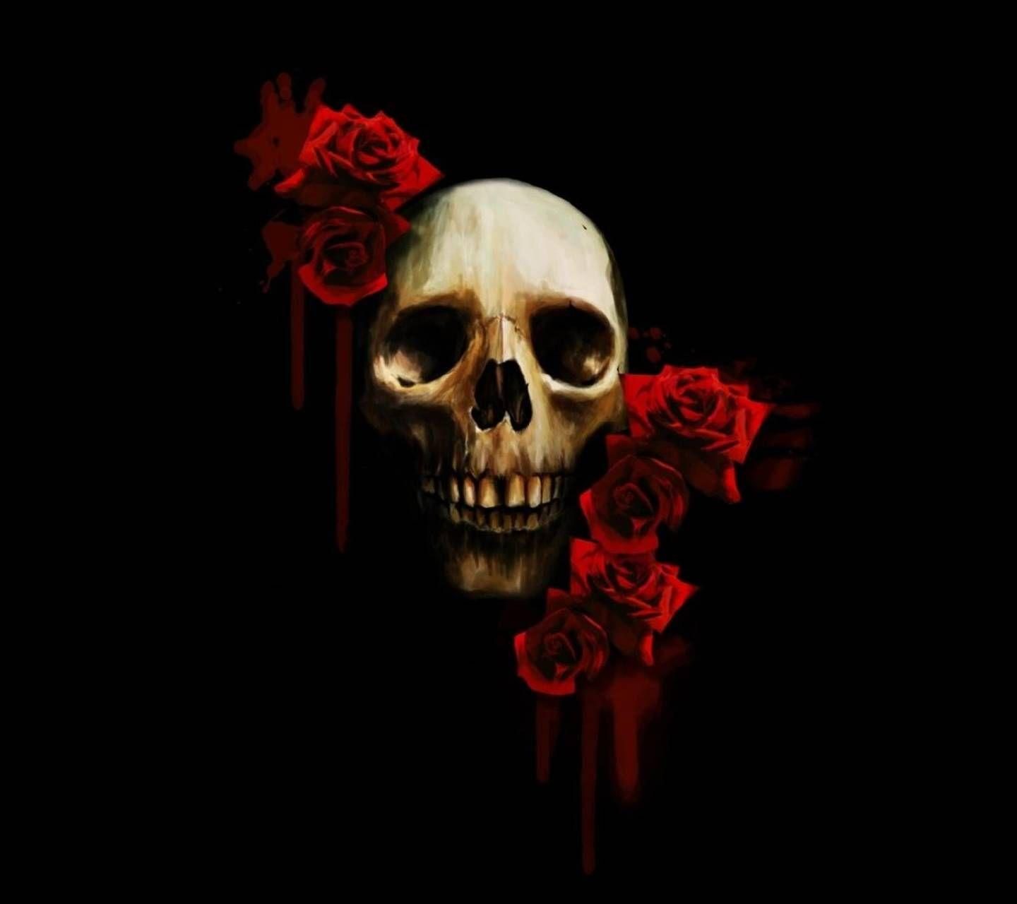 Skull And Roses Wallpapers Wallpaper Cave