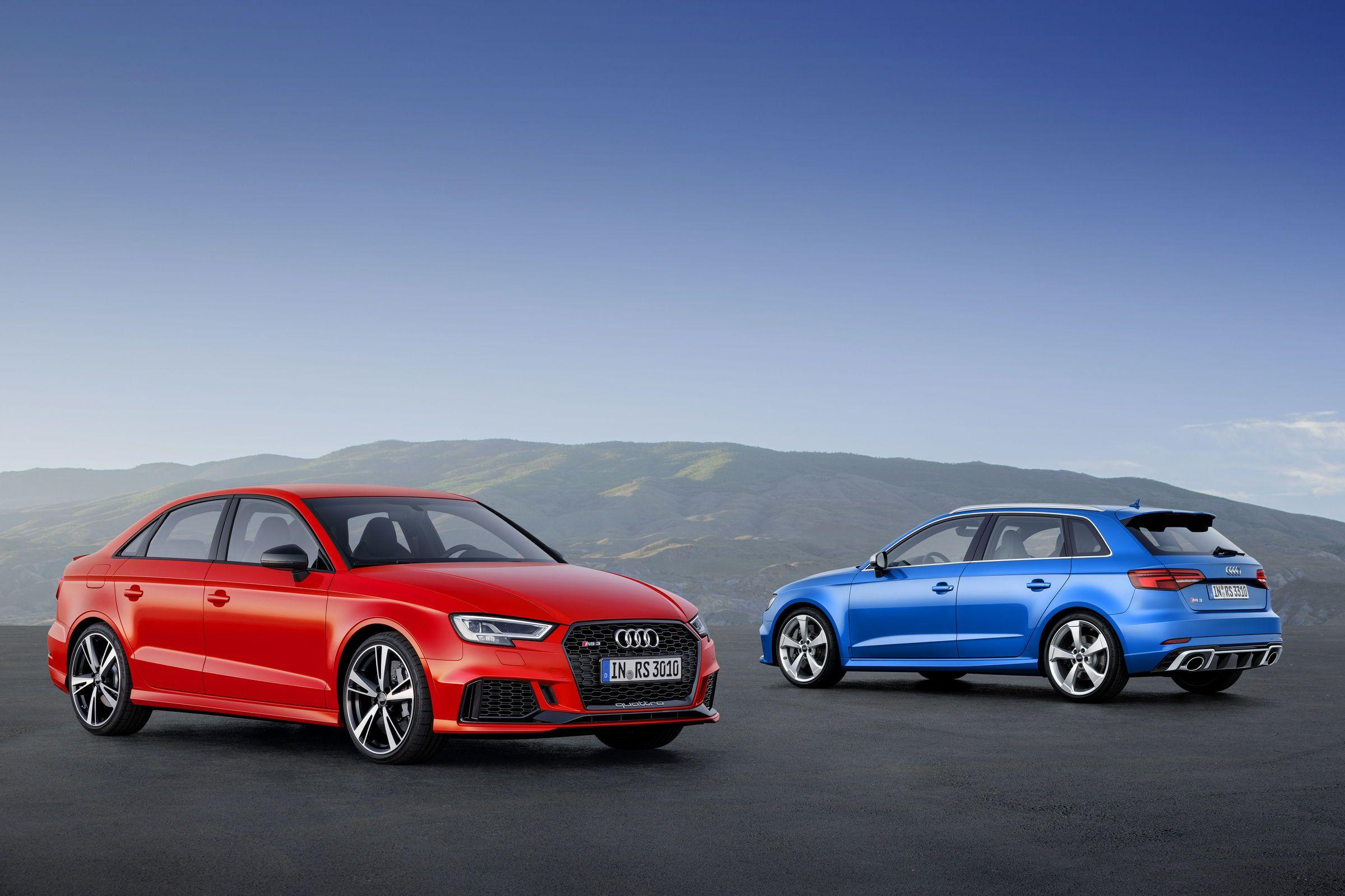 Compact top athletes: Audi RS 3 Sedan and RS 3 Sportback