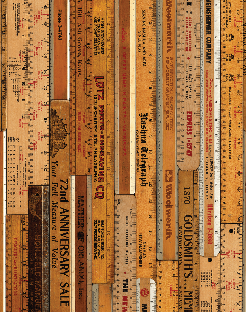 MRV-06 Large Printed Rulers Wallpaper by Mr & Mrs Vintage – The .