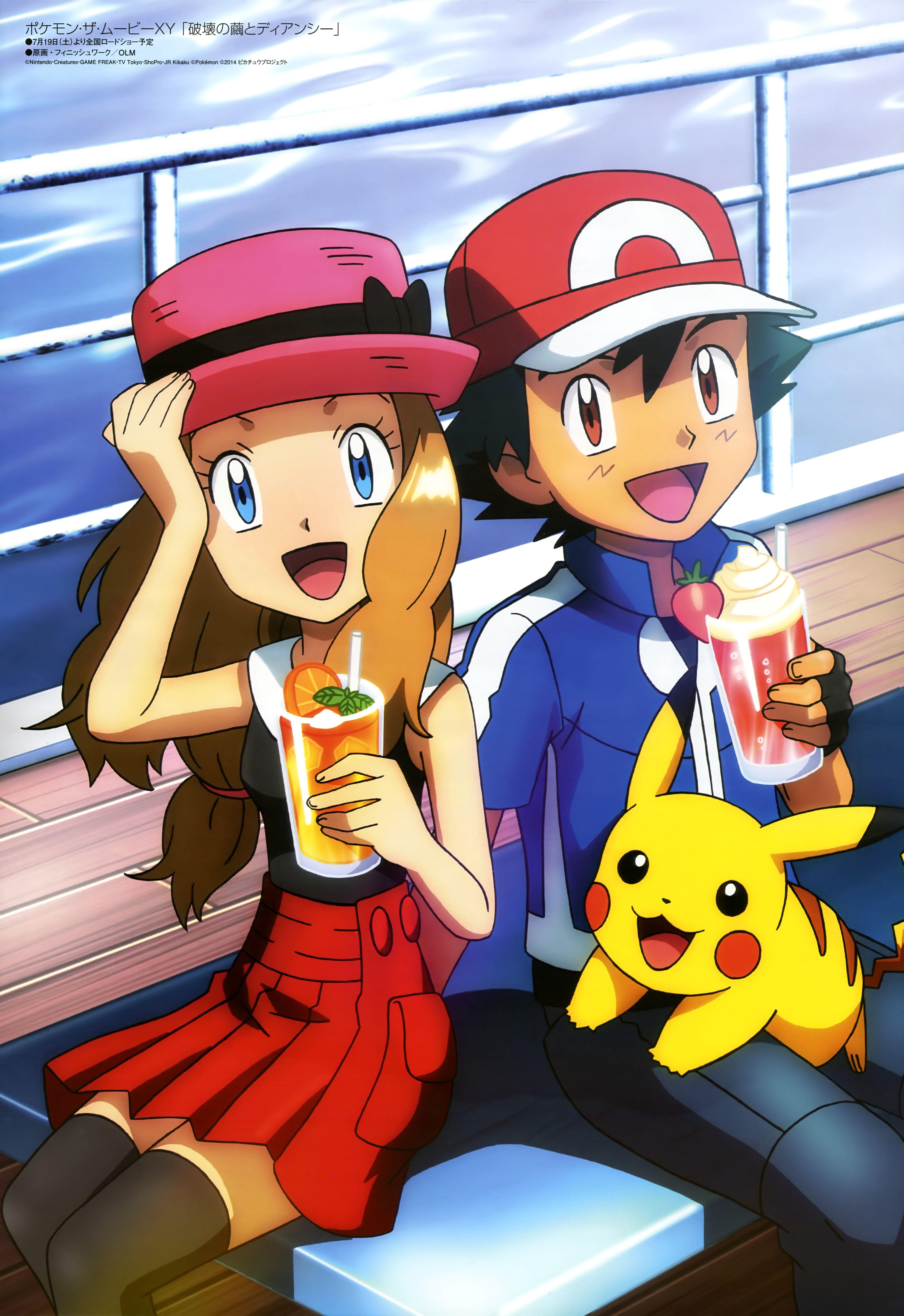 Pokemon XYZ Ash And Serena Wallpapers - Wallpaper Cave