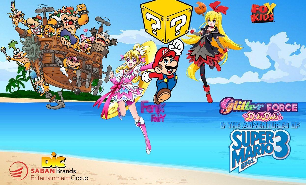 Glitter Force Doki Doki and The Adventures of SMB3 by