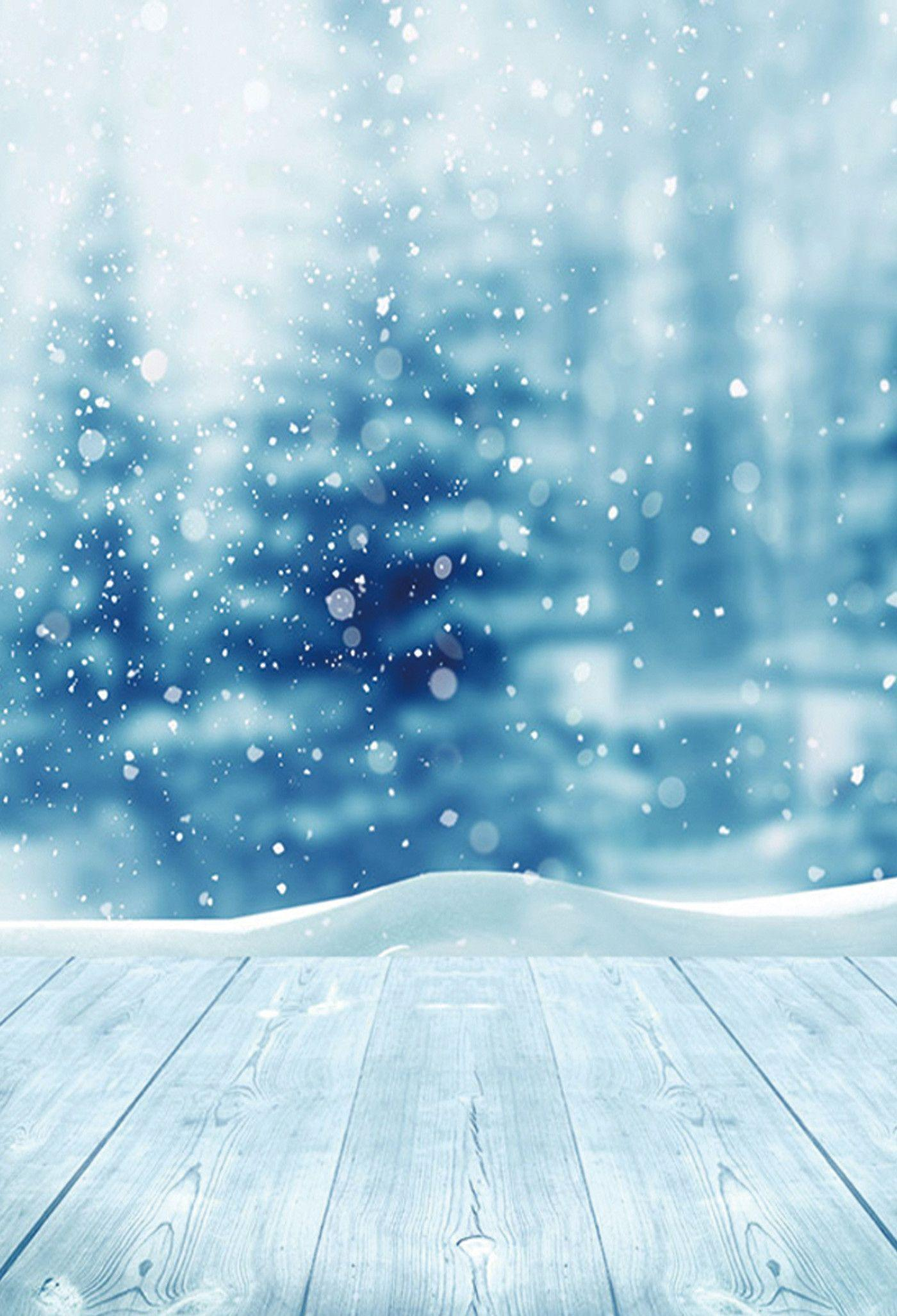 Season Backdrop Winter Backgrounds Snowflake Backdrop Blue Floor
