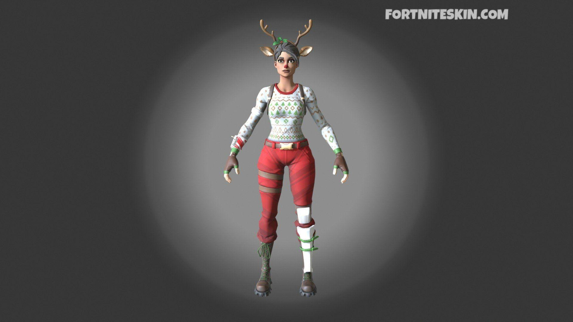 Fortnite Red Nosed Raider Png