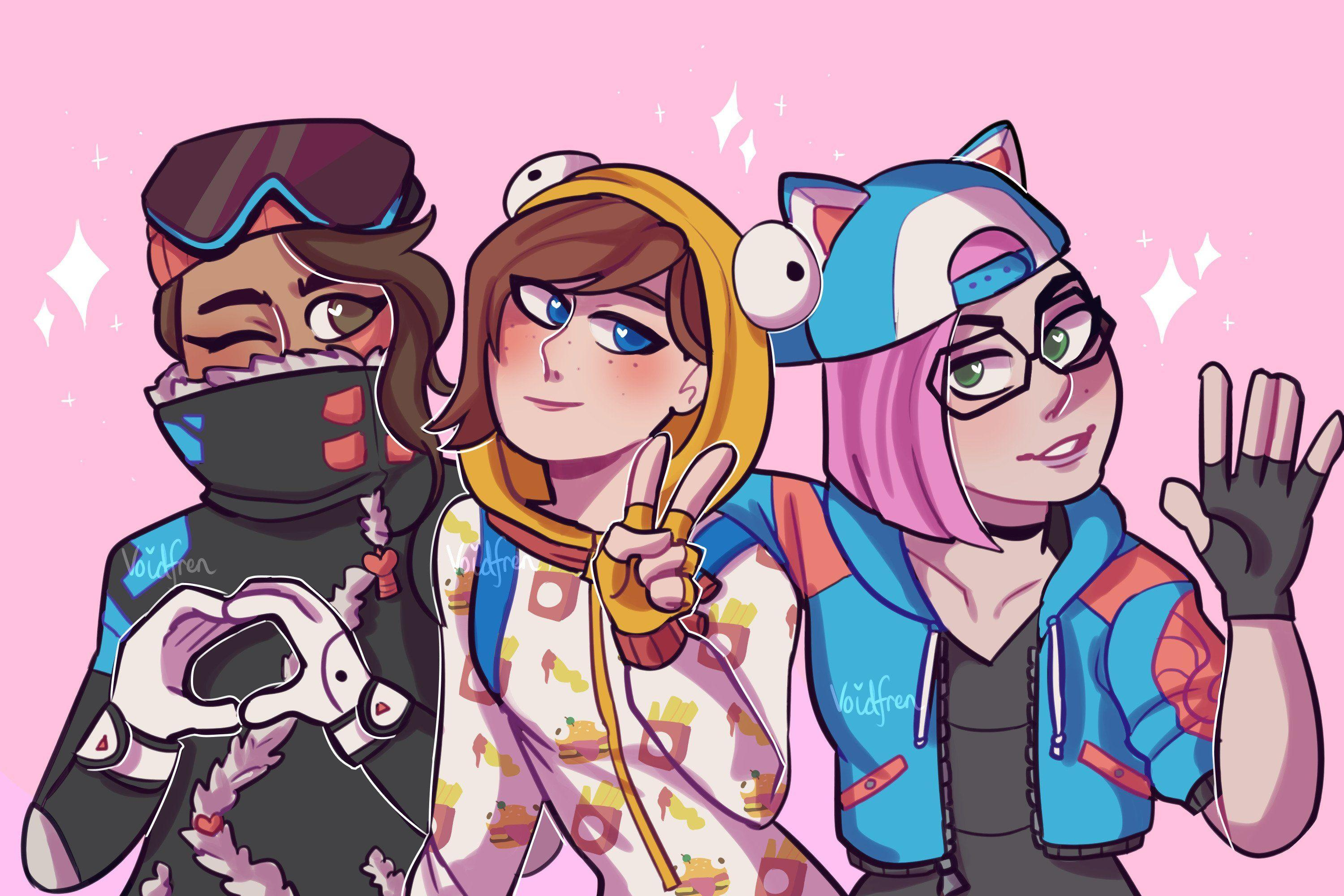 Fortnite Season 7 Cute Girls - Drawing by Rosechaii #4439 Wallpapers ...