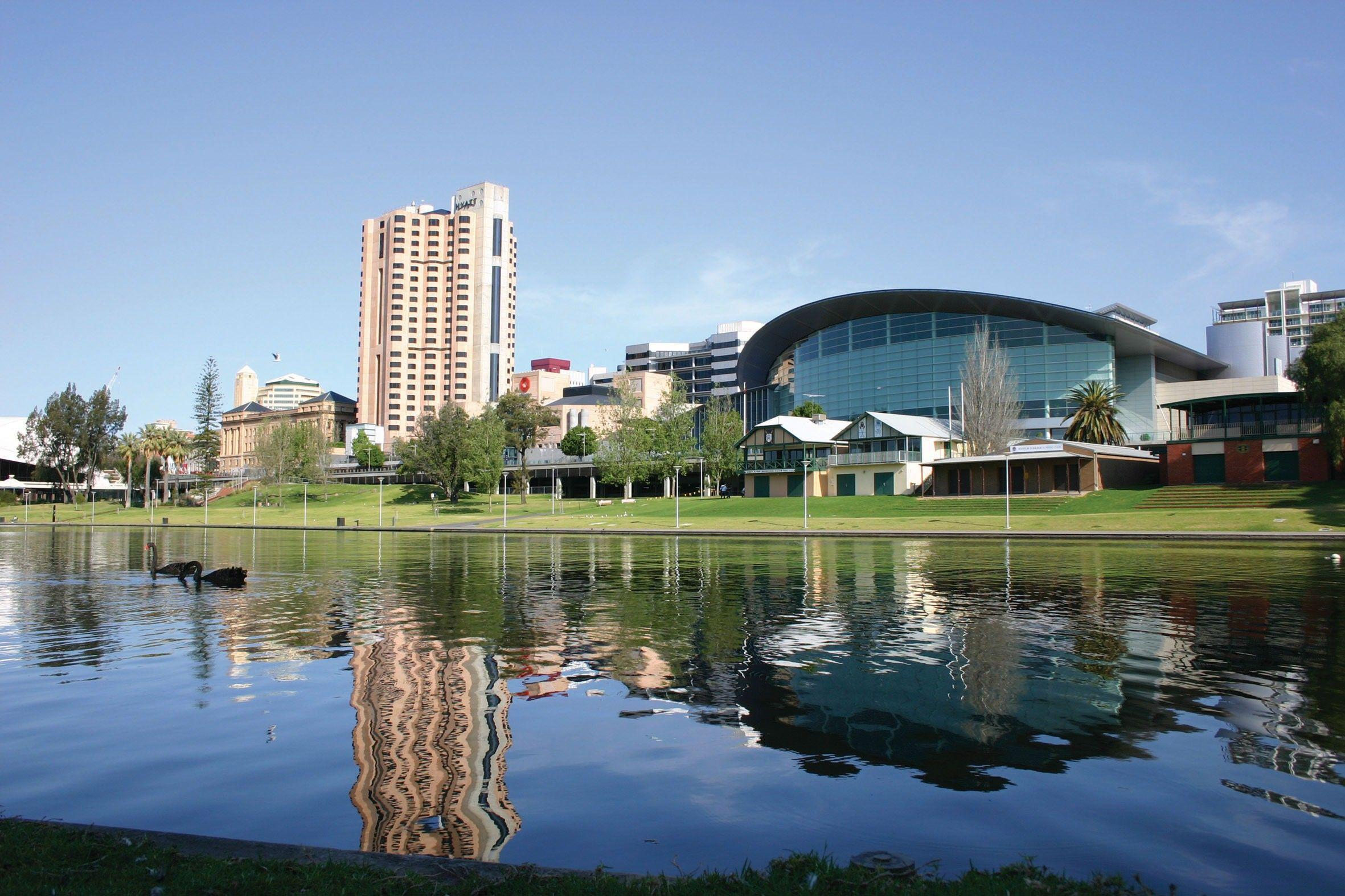 Beautiful View of Adelaide City in South Australia Country HD