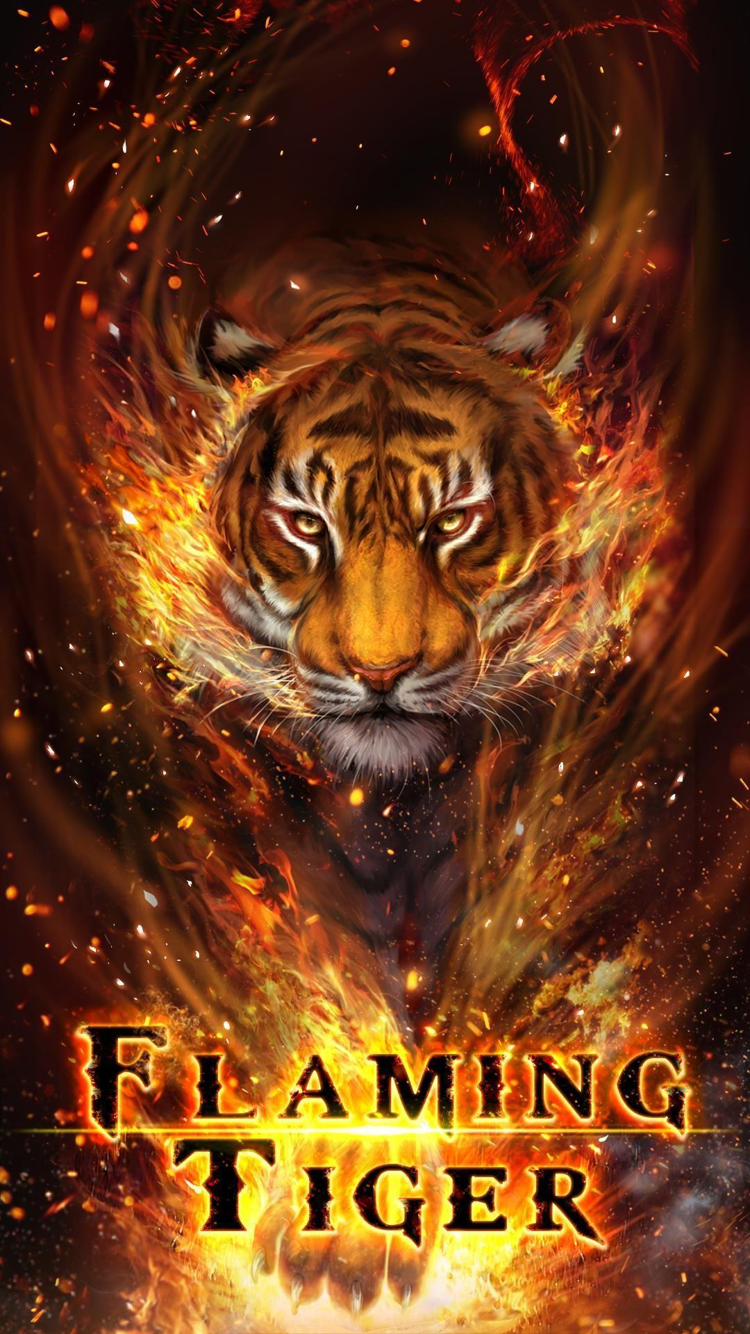 Fire Tiger Wallpapers Wallpaper Cave