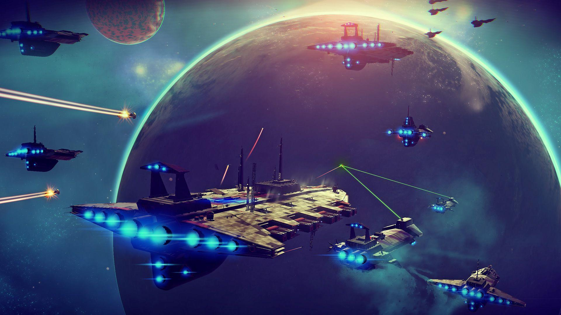 No Mans Sky Space battle HD Wallpapers