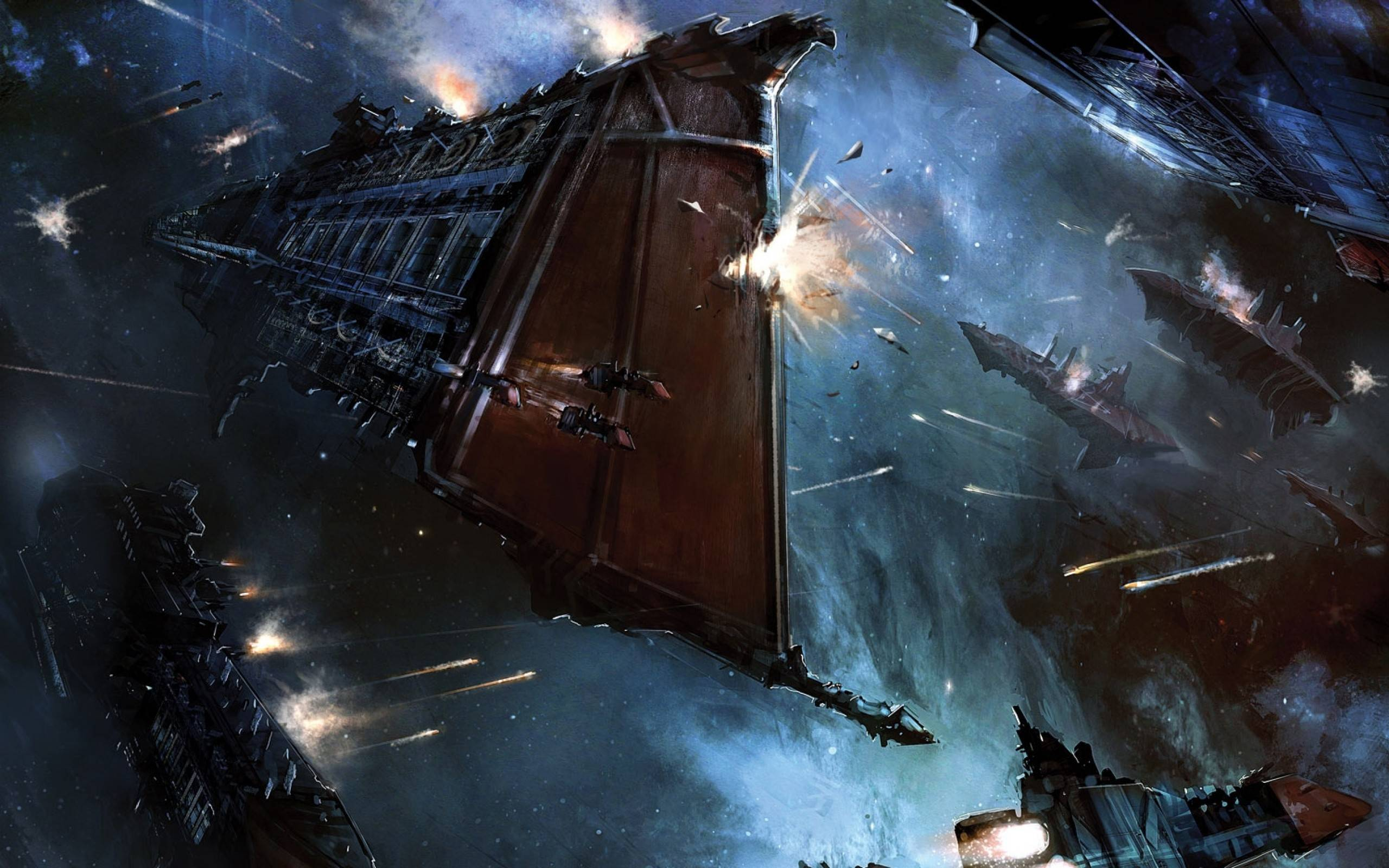 Imperial Navy space battle wallpapers