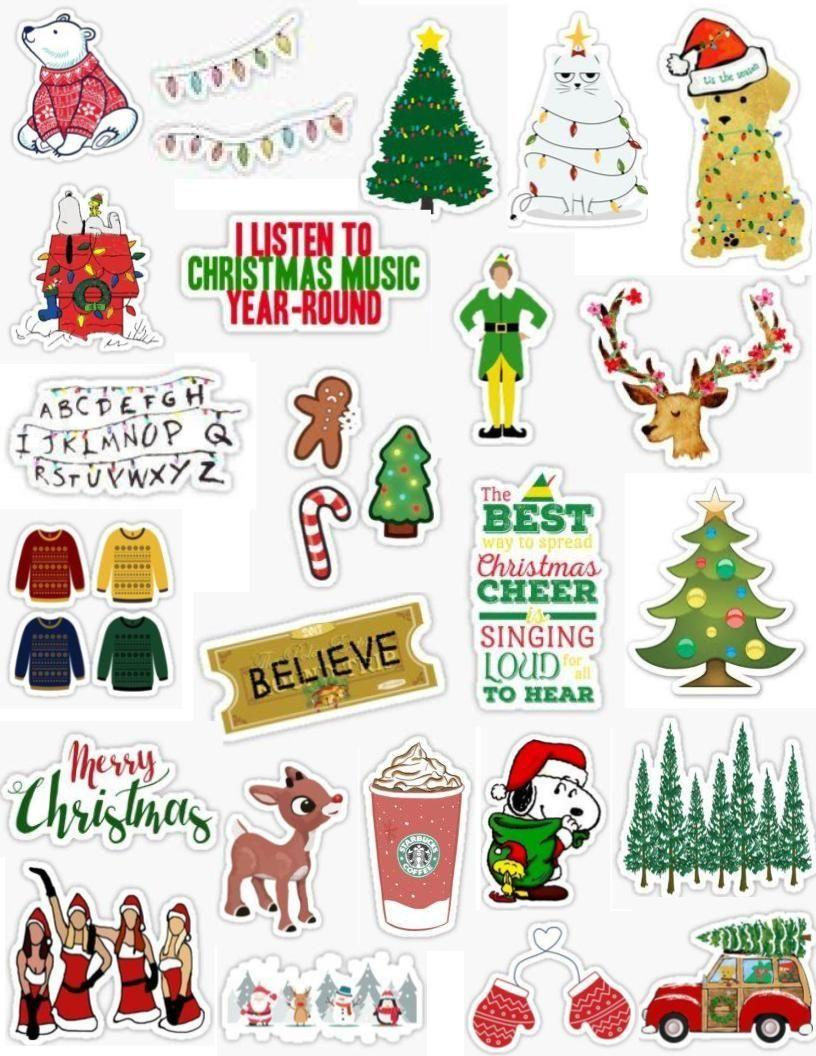 Christmas Stickers Wallpapers - Wallpaper Cave