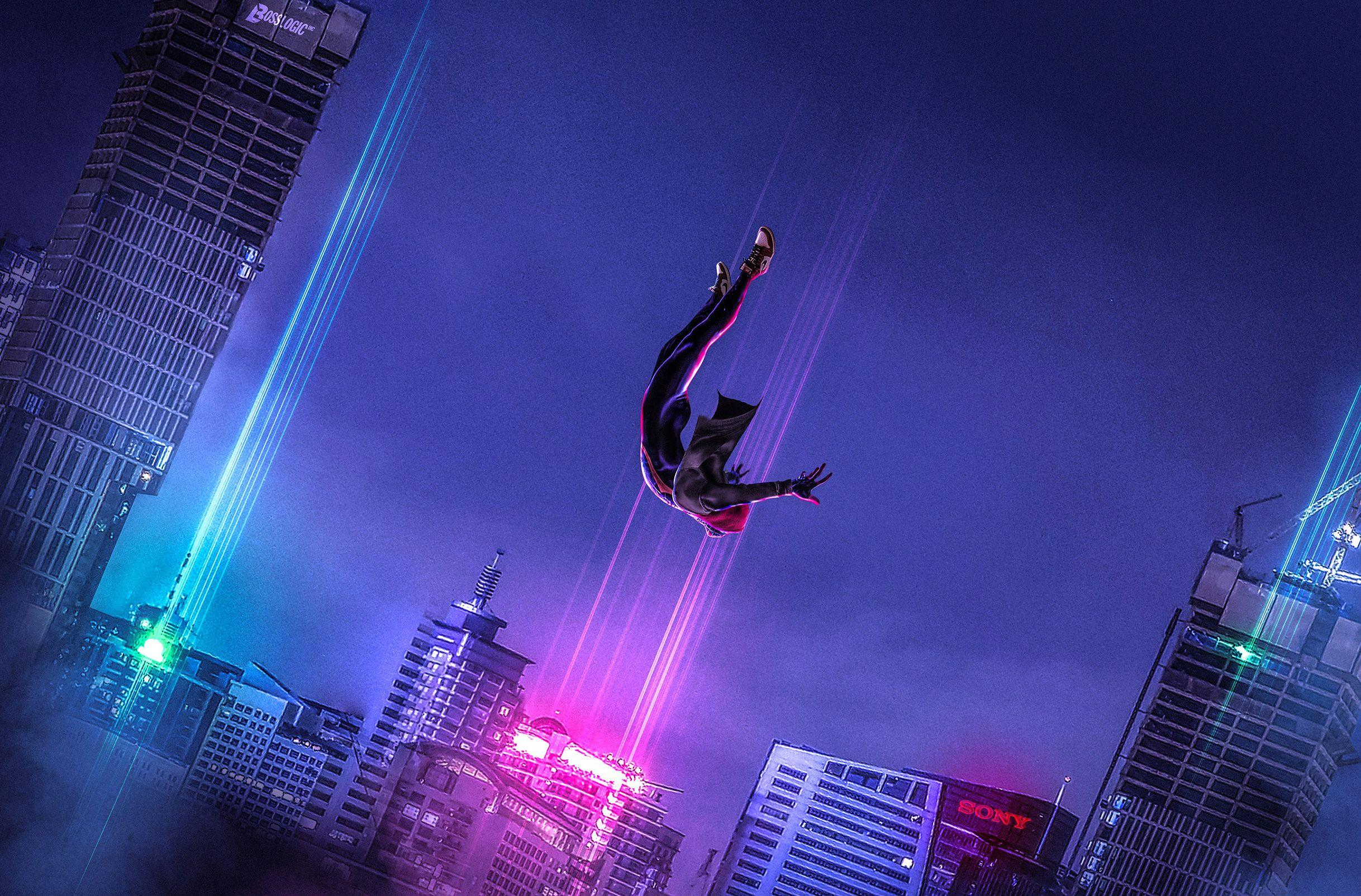 SpiderMan Into The Spider Verse Art, HD Movies, 4k Wallpapers
