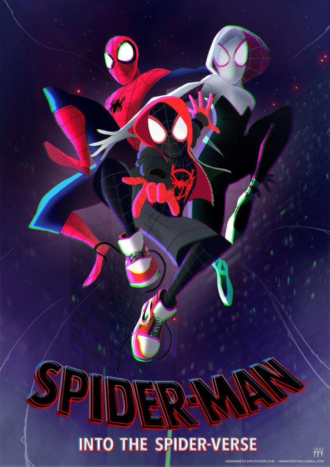 Spiderman Into The Spider Verse Wallpapers Wallpaper Cave