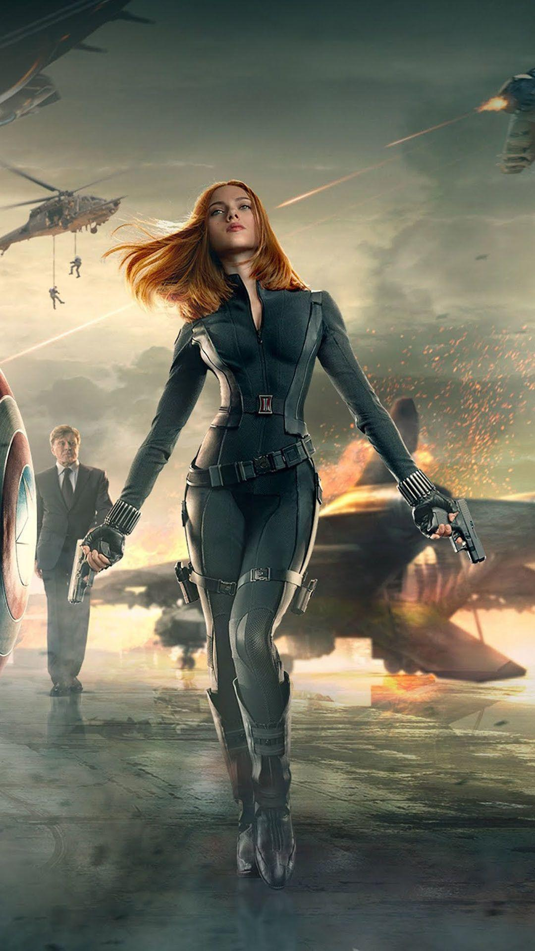 Natasha Romanova Black Widow Captain America 2 Android Wallpapers