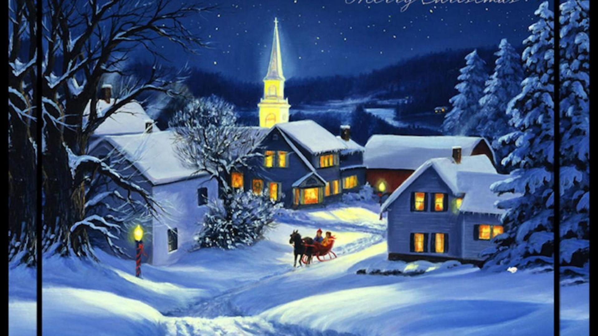 Christmas Village Wallpapers Wallpaper Cave