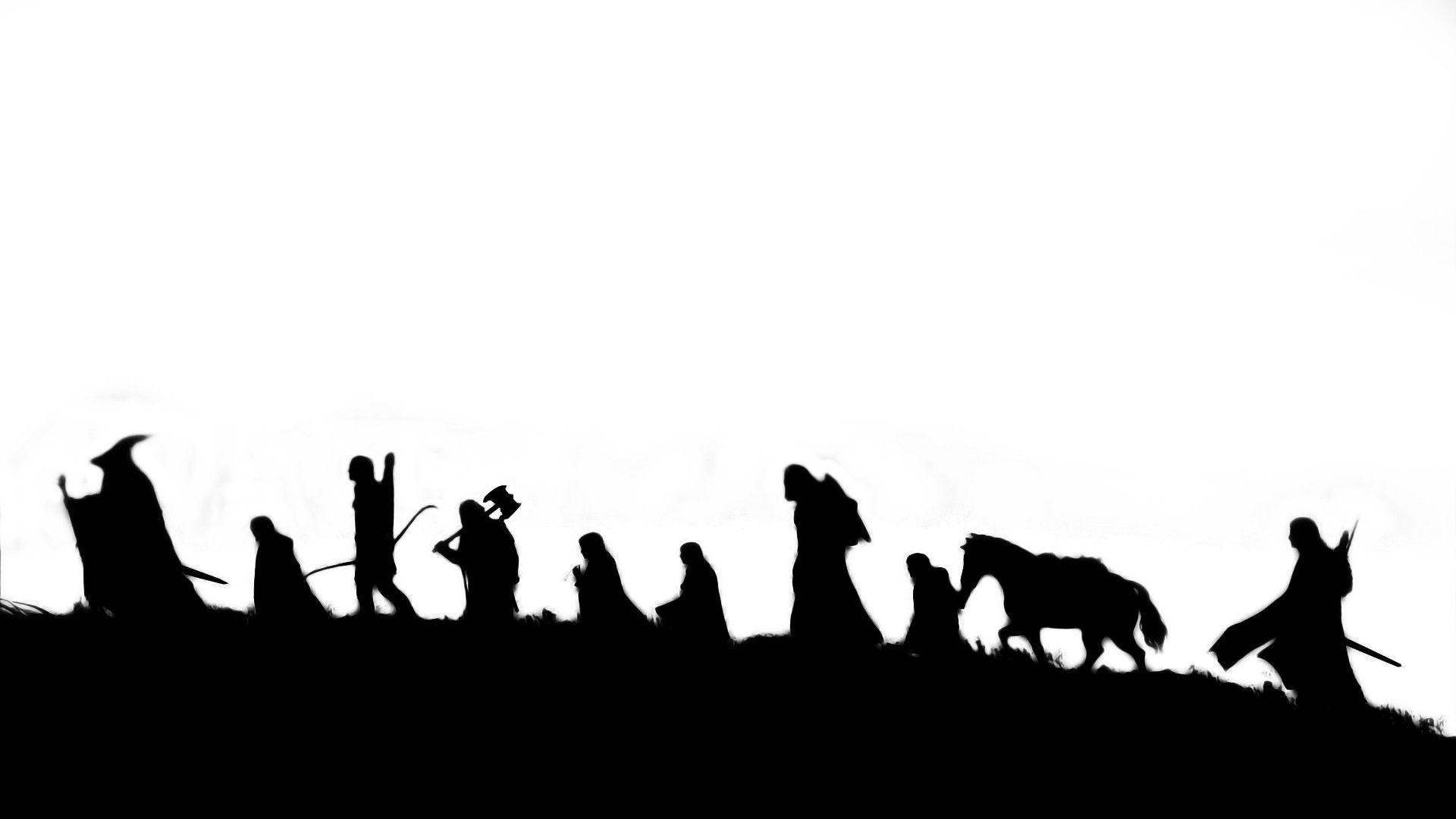 Simple black and white wallpapers [1080p] : lotr