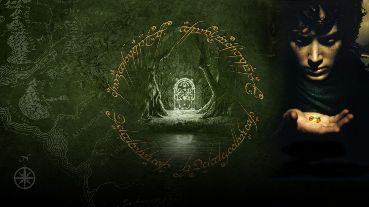 LORD OF THE RINGS FELLOWSHIP RING lotr fantasy f wallpapers
