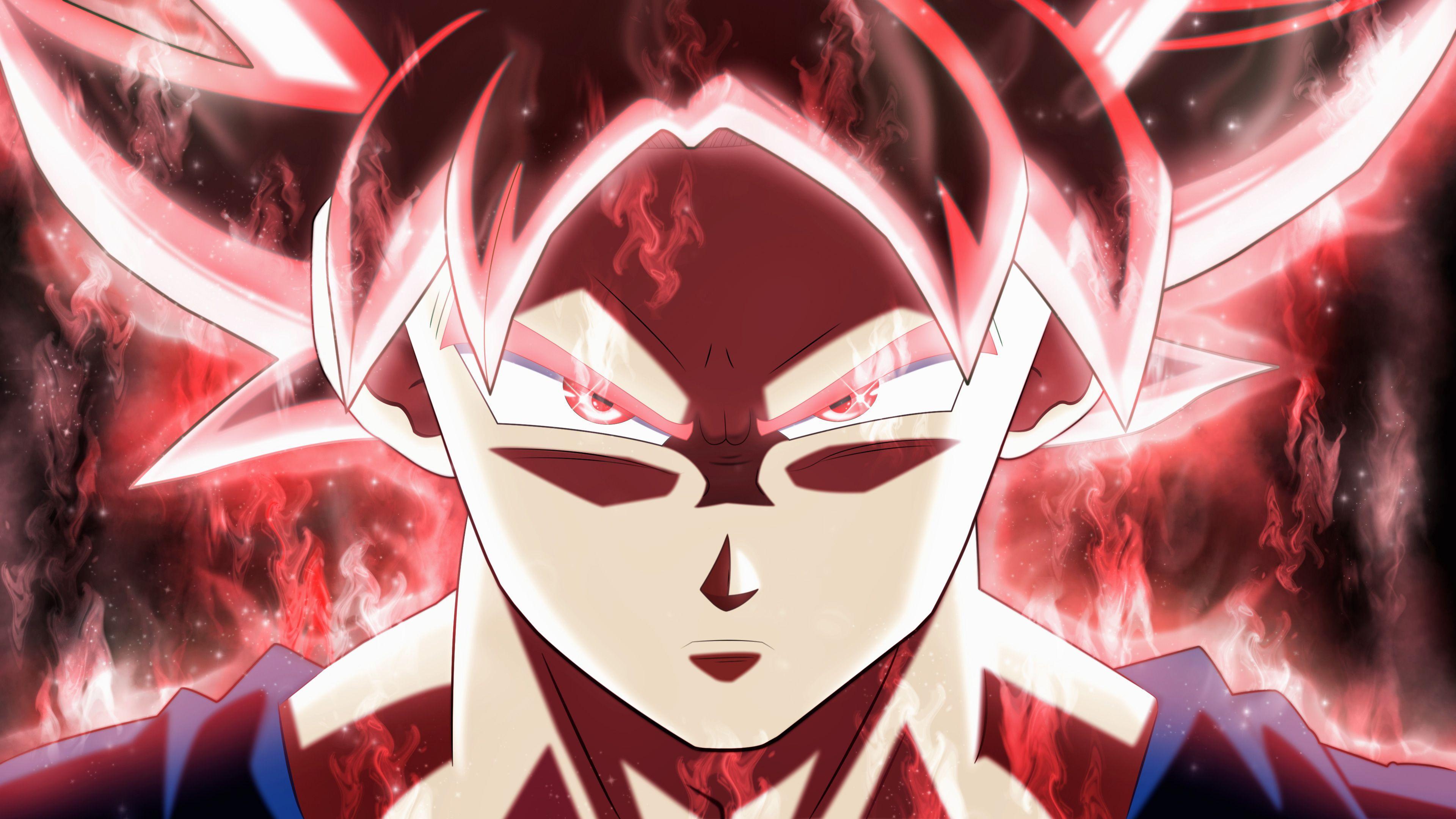 Red Goku Wallpaper 4k