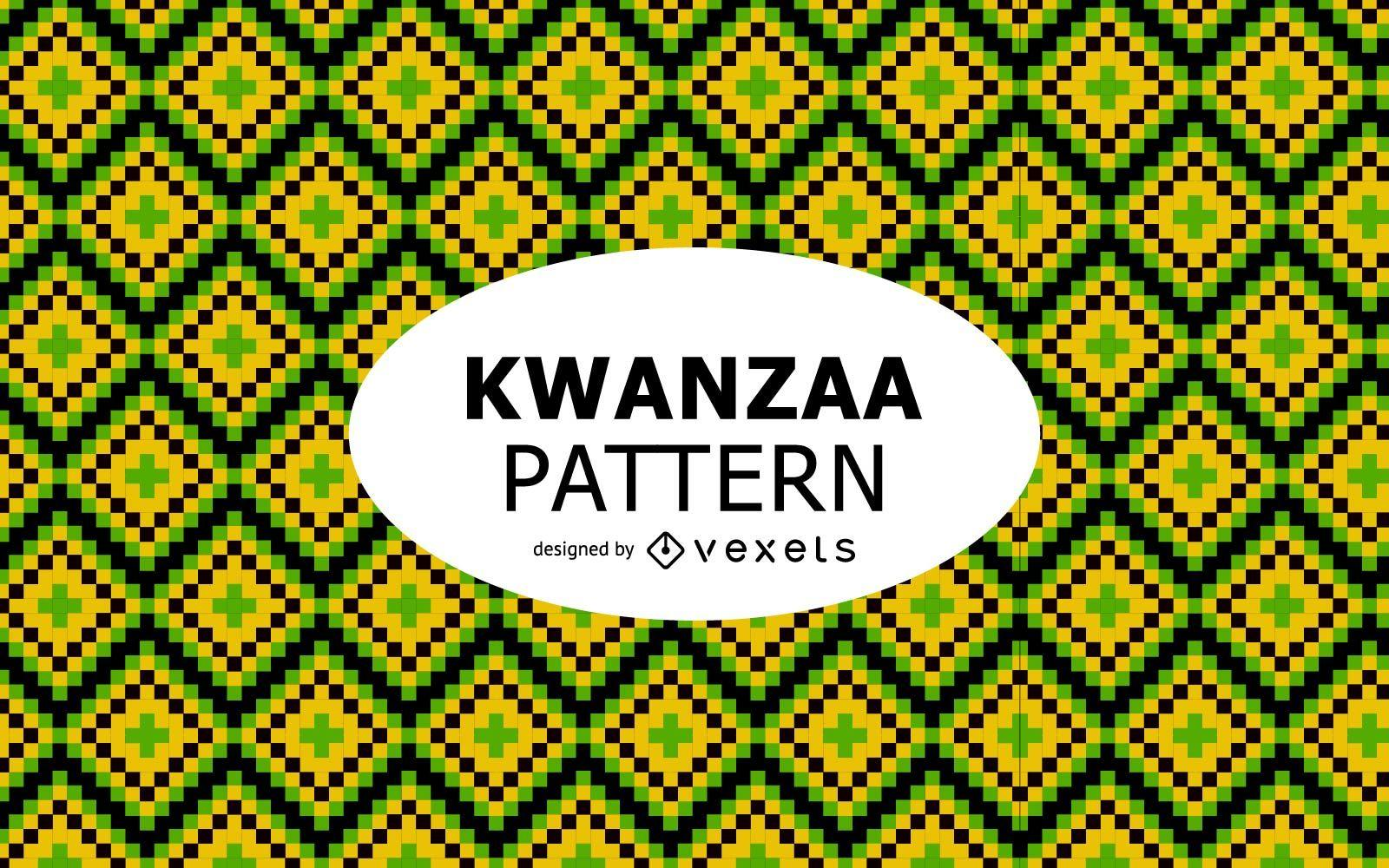 Colorful geometric Kwanzaa pattern