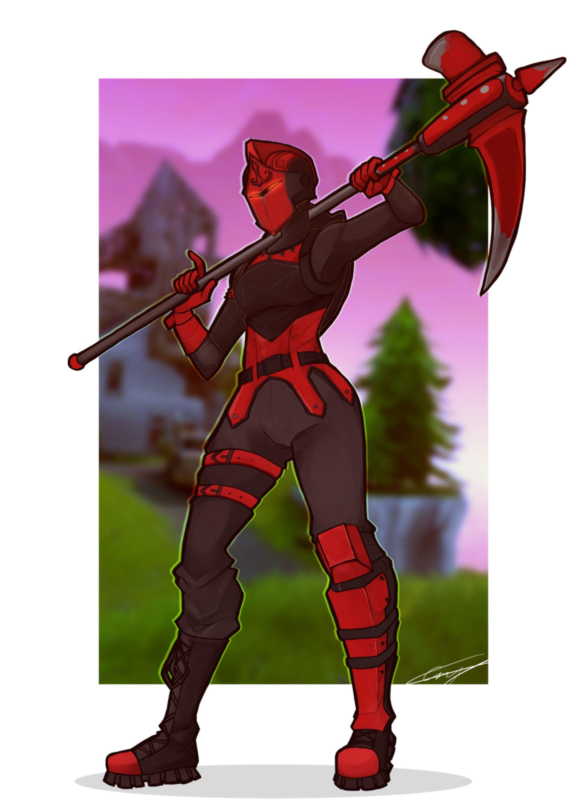 Red knight by CaseyKeshui on @DeviantArt | Fortnite in 2019 | Red ...