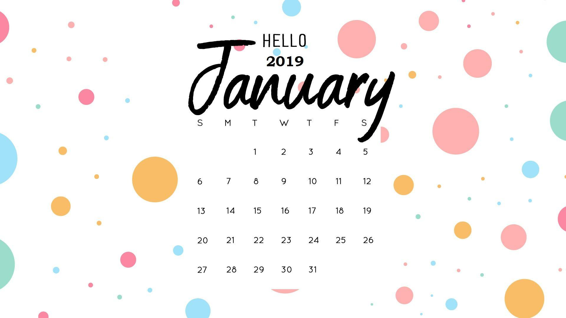 January 2019 Calendar Desktop January 2019 Calendar Wallpapers   Wallpaper Cave