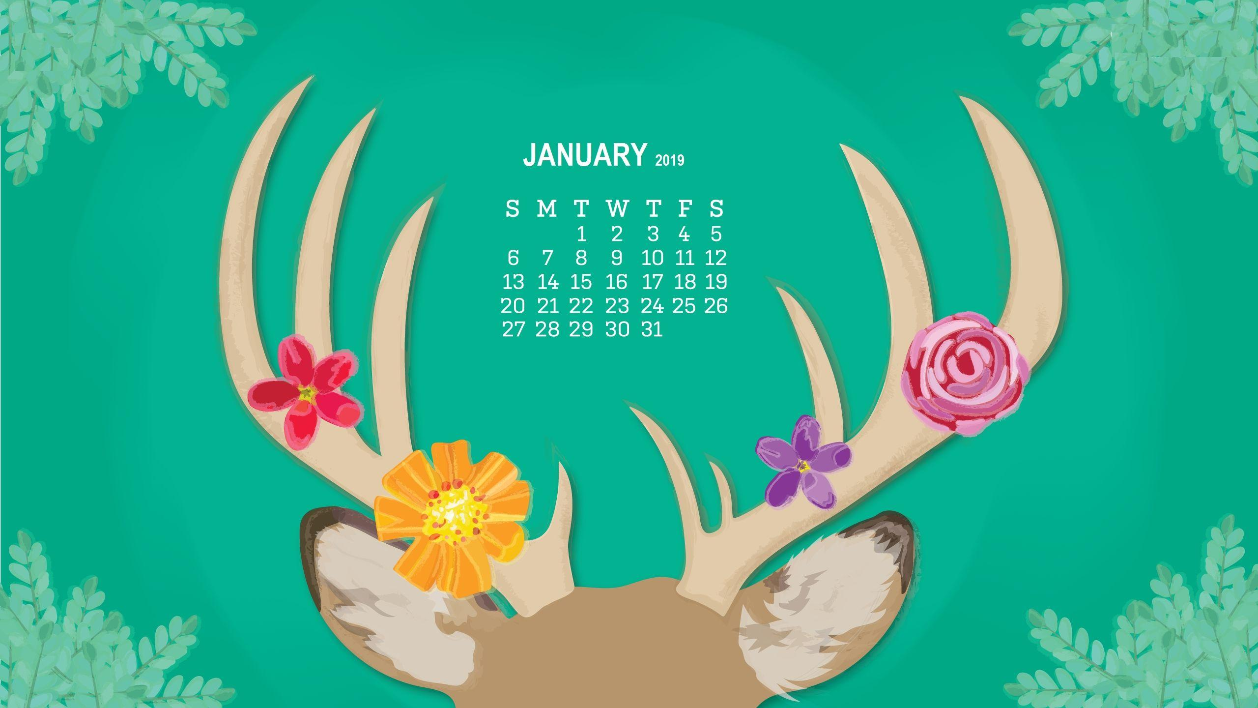 January 2019 Calendar Wallpapers  Wallpaper Cave