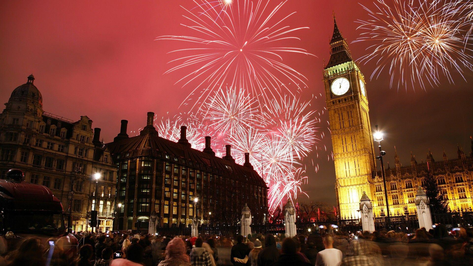 Wallpapers New Year's Eve, London, Big Ben, 4K, World,
