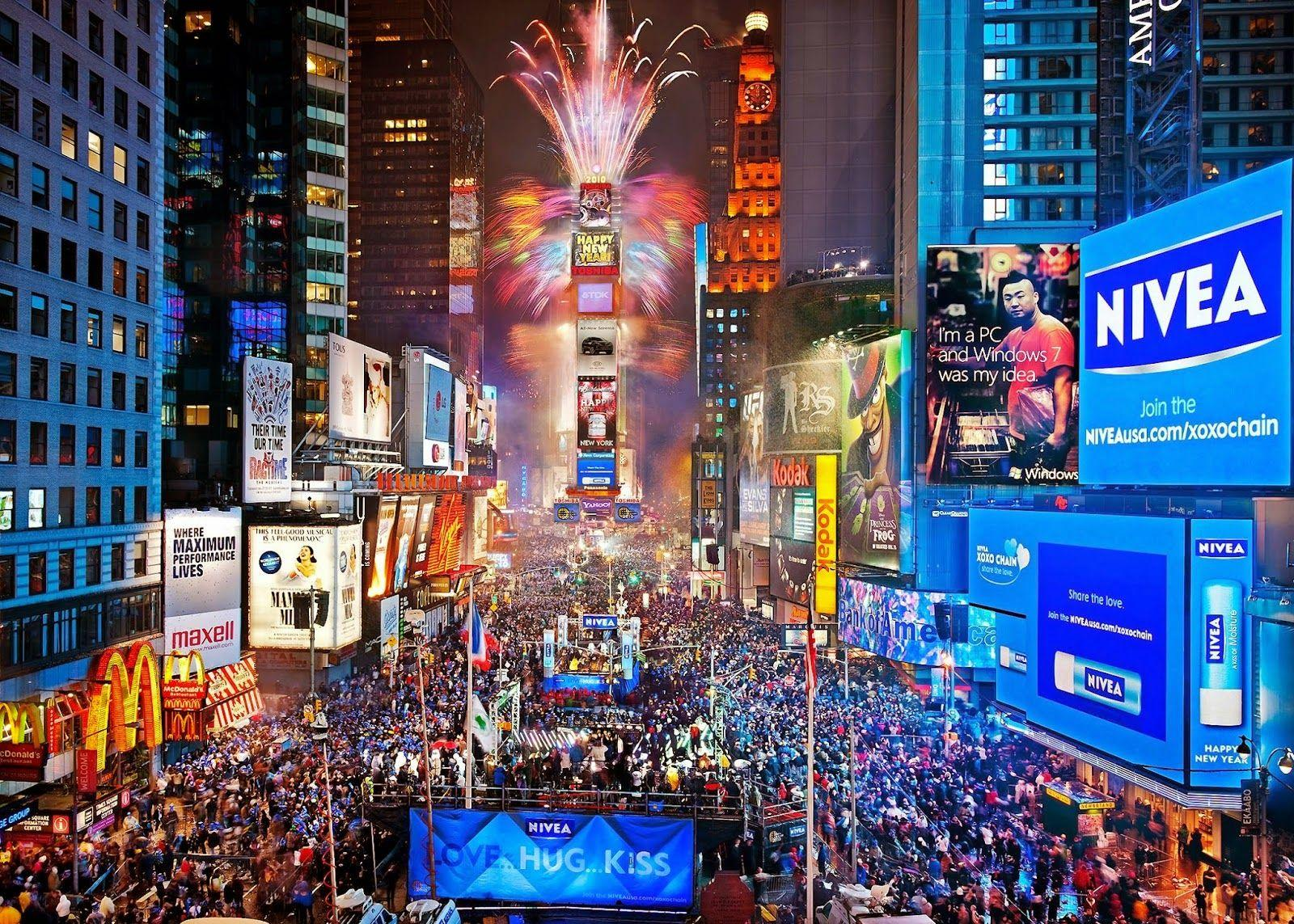 Times Square New Years Ev HD Wallpaper, Backgrounds Image