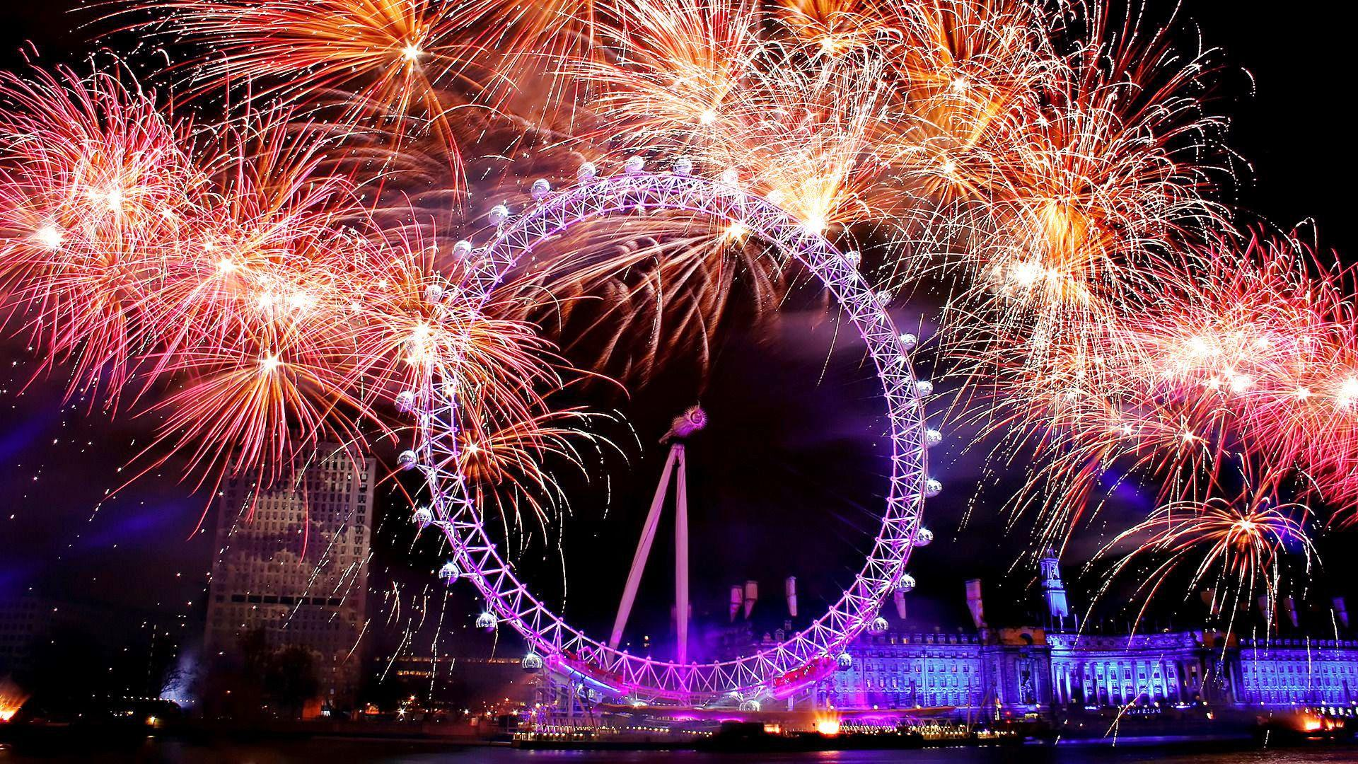12 Cheerful London Eye New Year's Eve Wallpapers in HD for Free