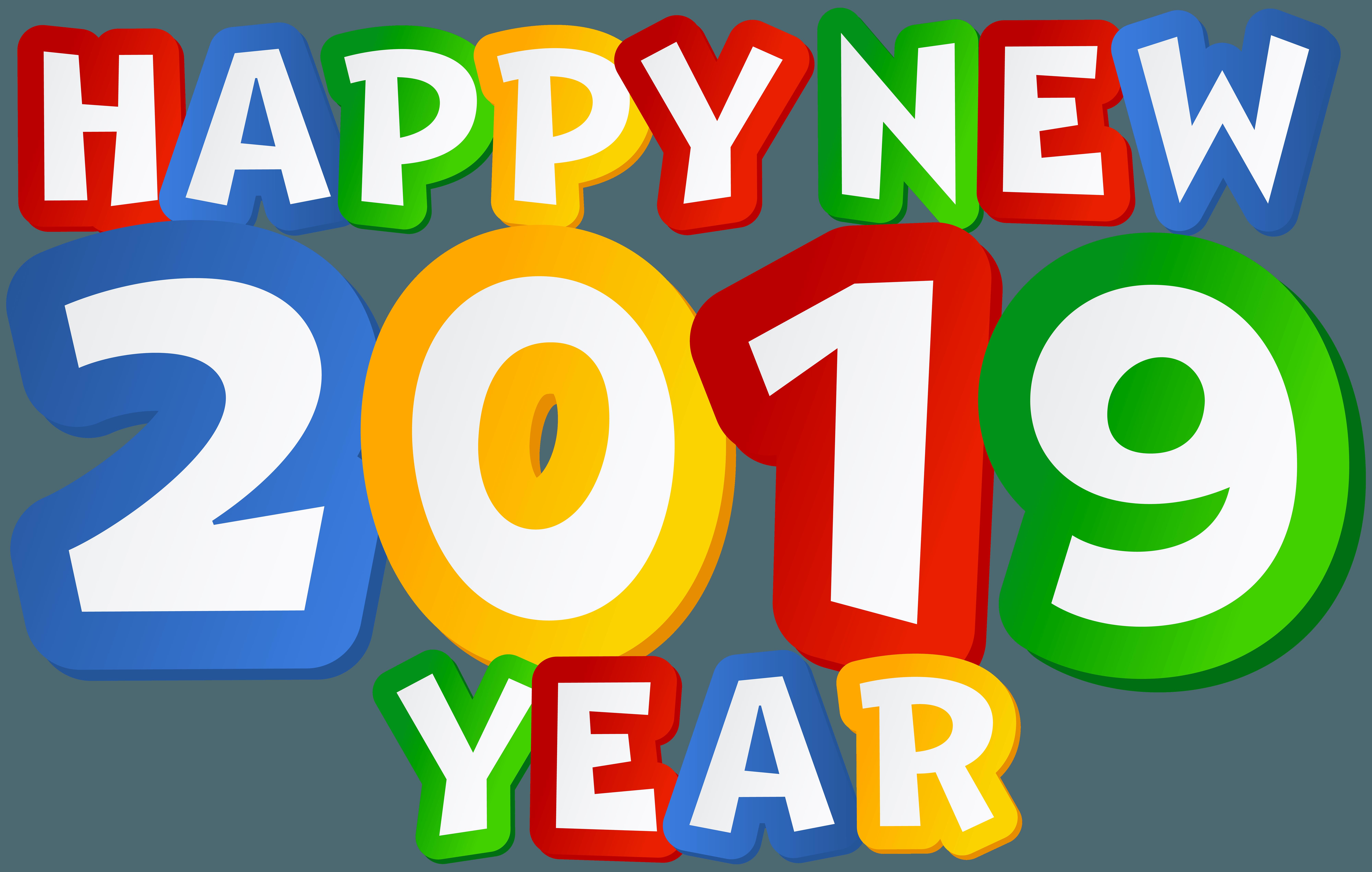 Happy New Year Logo 2019 38