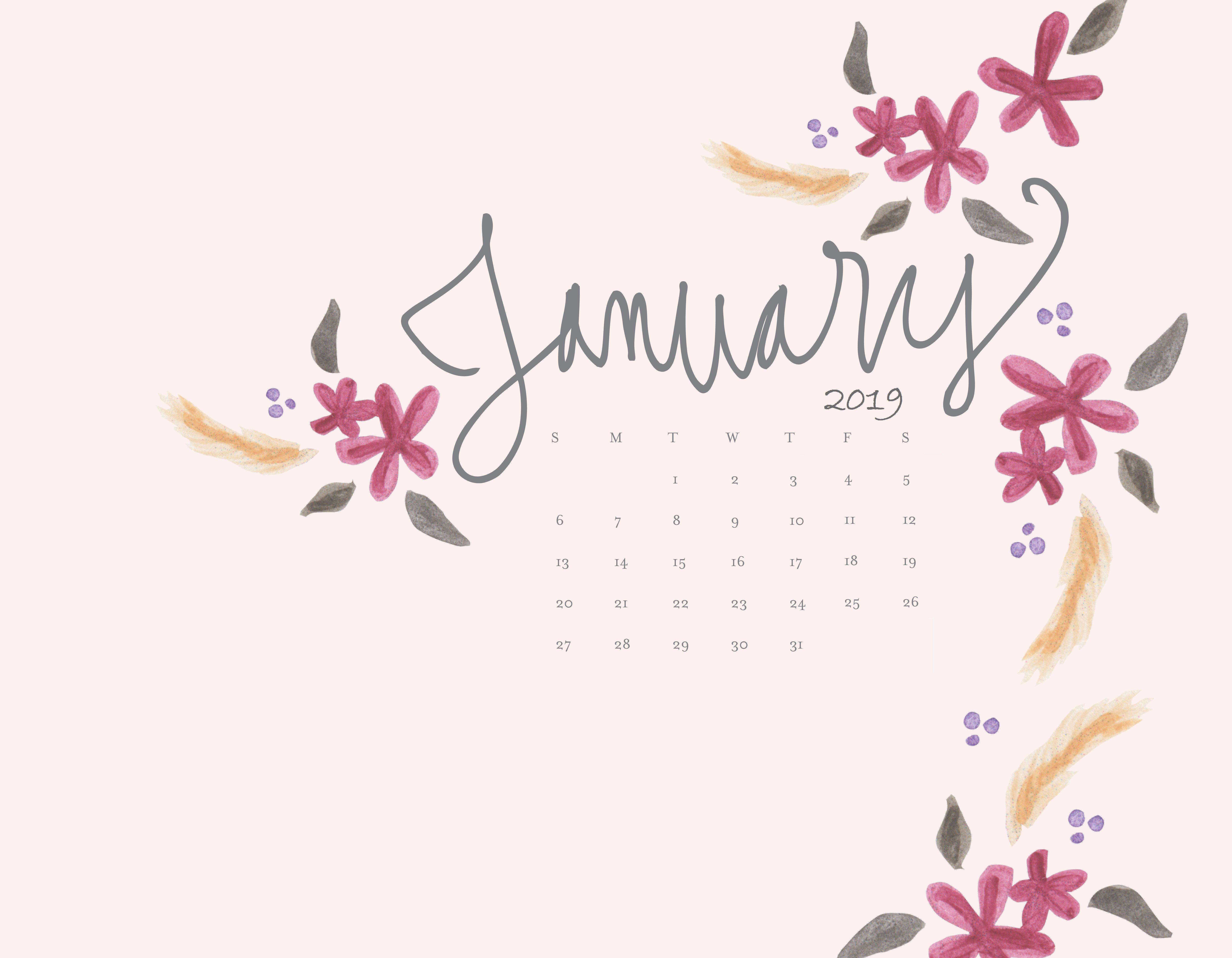 January 2019 Calendar Desktop Background January 2019 Calendar Wallpapers   Wallpaper Cave
