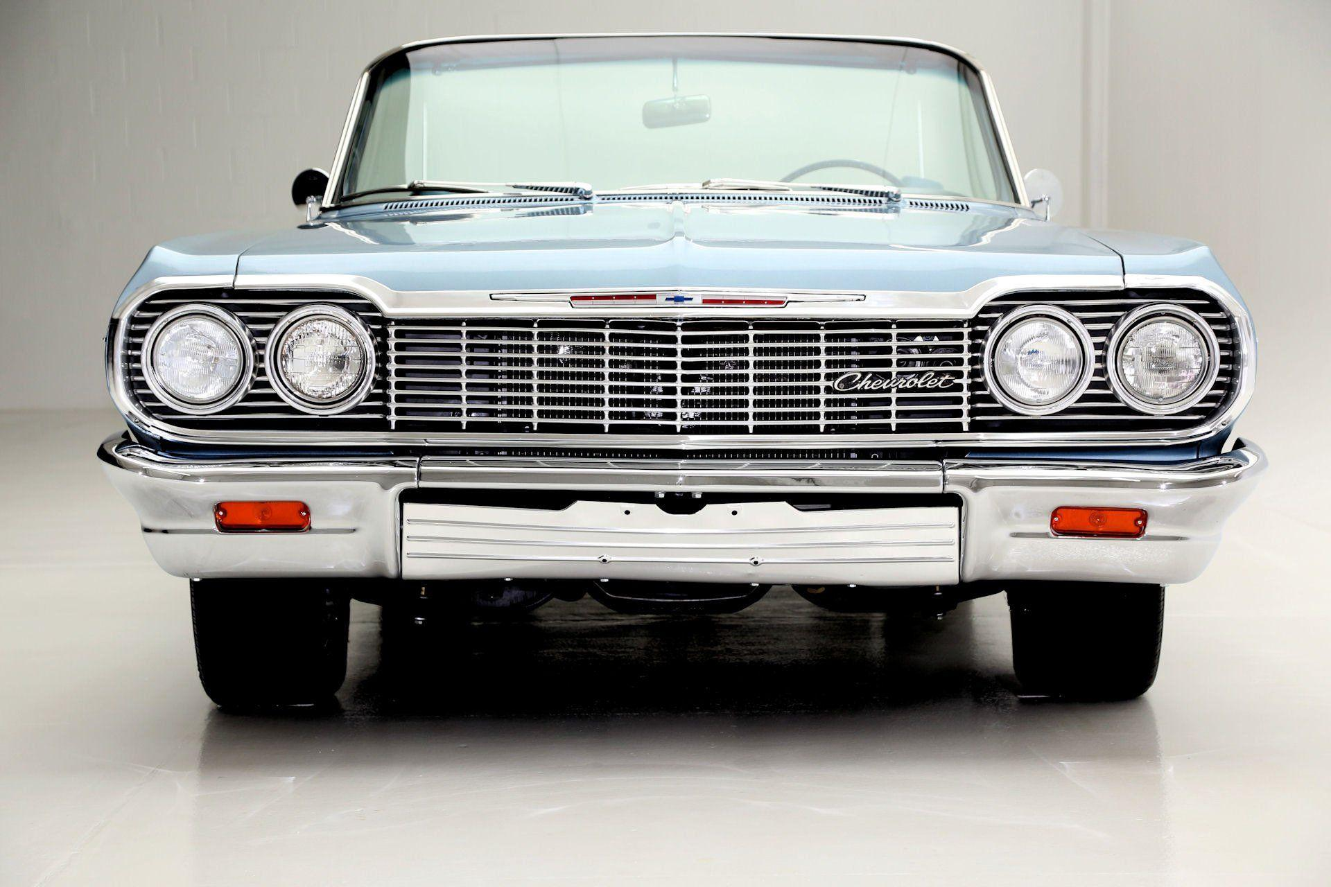 1964 CHEVROLET IMPALA CONVERTIBLE 327ci muscle classic wallpaper ...