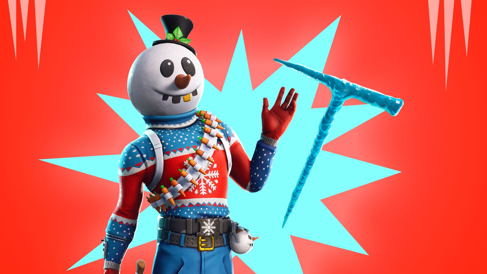 Christmas Skins arrive in Fortnite: Slushy soldier, Icicle pickaxe ...
