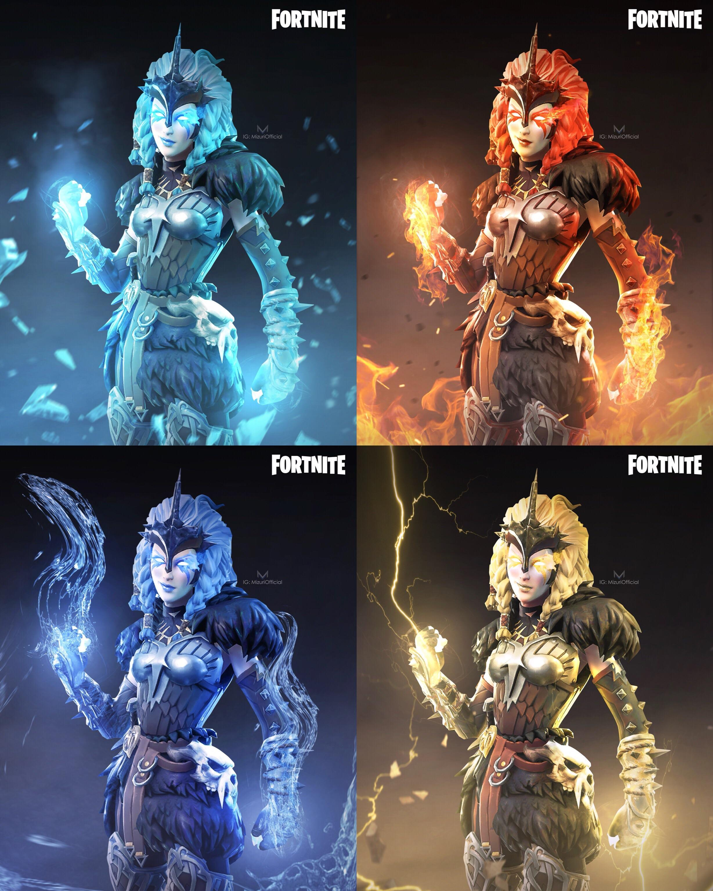 FORTNITE Elemental Valkyrie Concepts, Thoughts On The Concept .