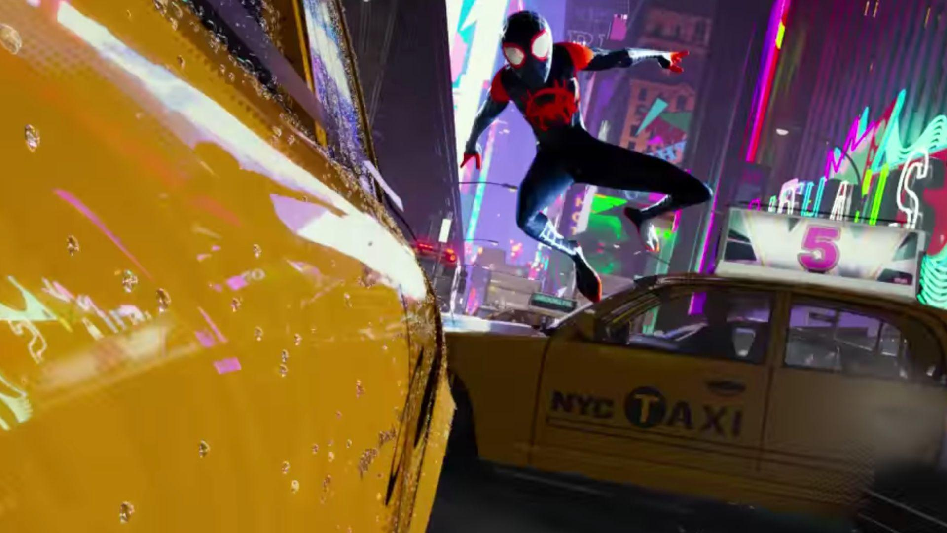 Insanely Cool First Trailer For Sony's Animated Spider-Man Film .