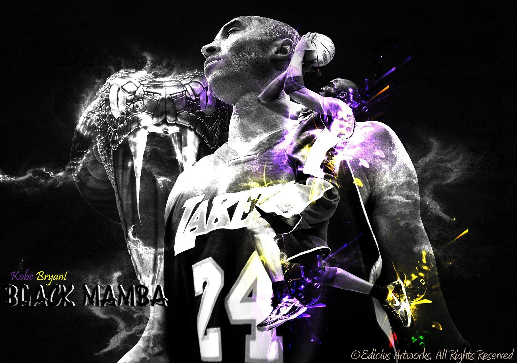 Kobe Bryant The Black Mamba Wallpapers Wallpaper Cave
