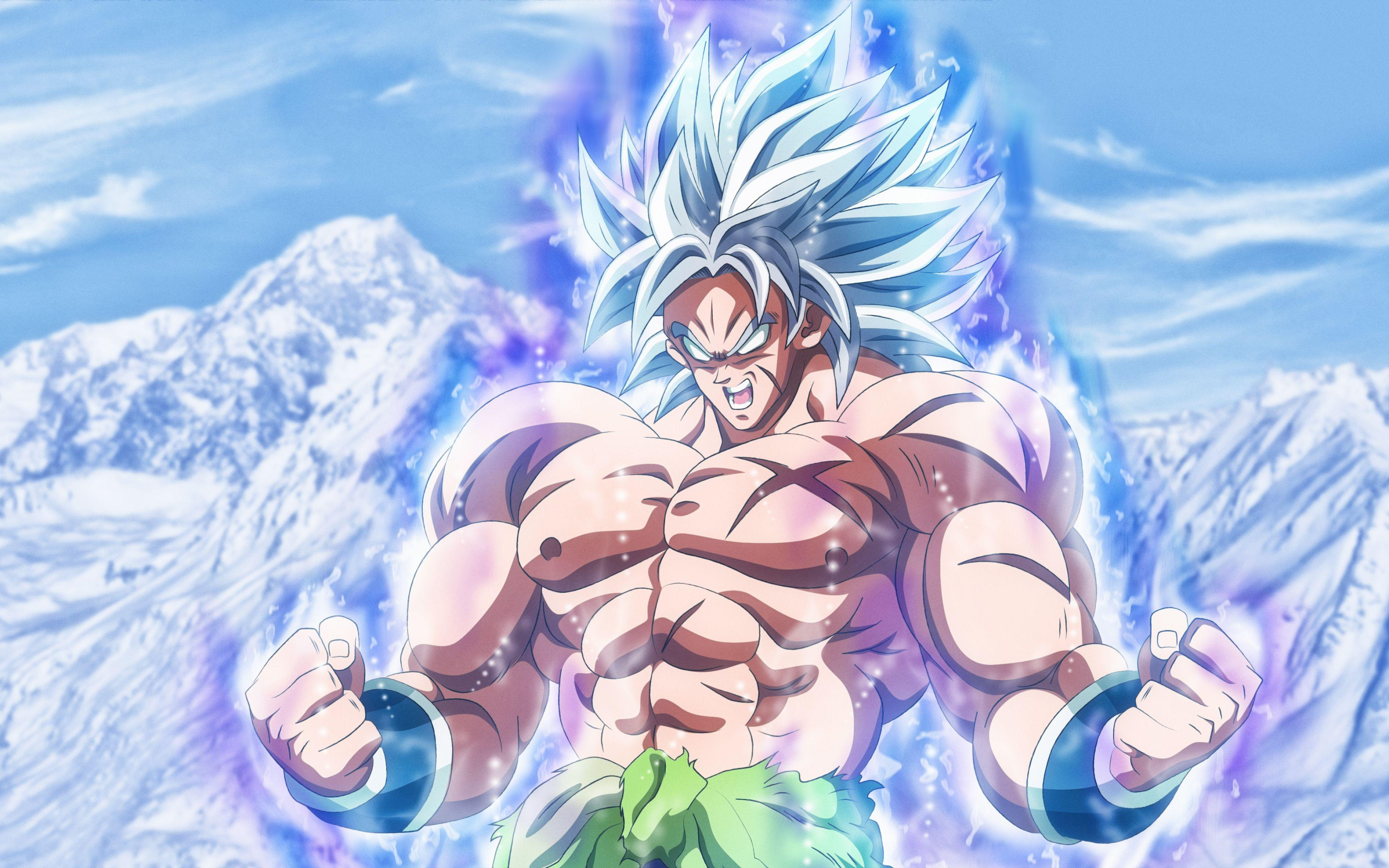 Download wallpapers Broly, 4k, mountains, Dragon Ball, DBS, Dragon