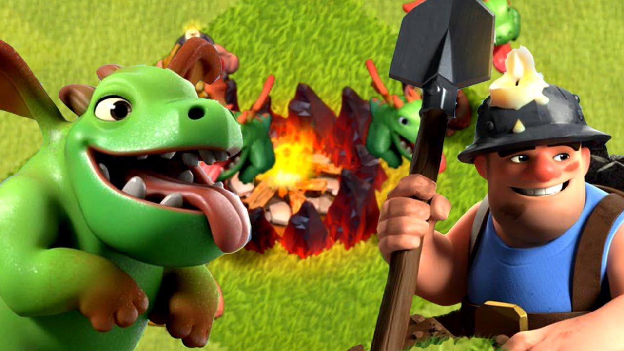 Baby Dragon Clash Of Clans Wallpapers Wallpaper Cave